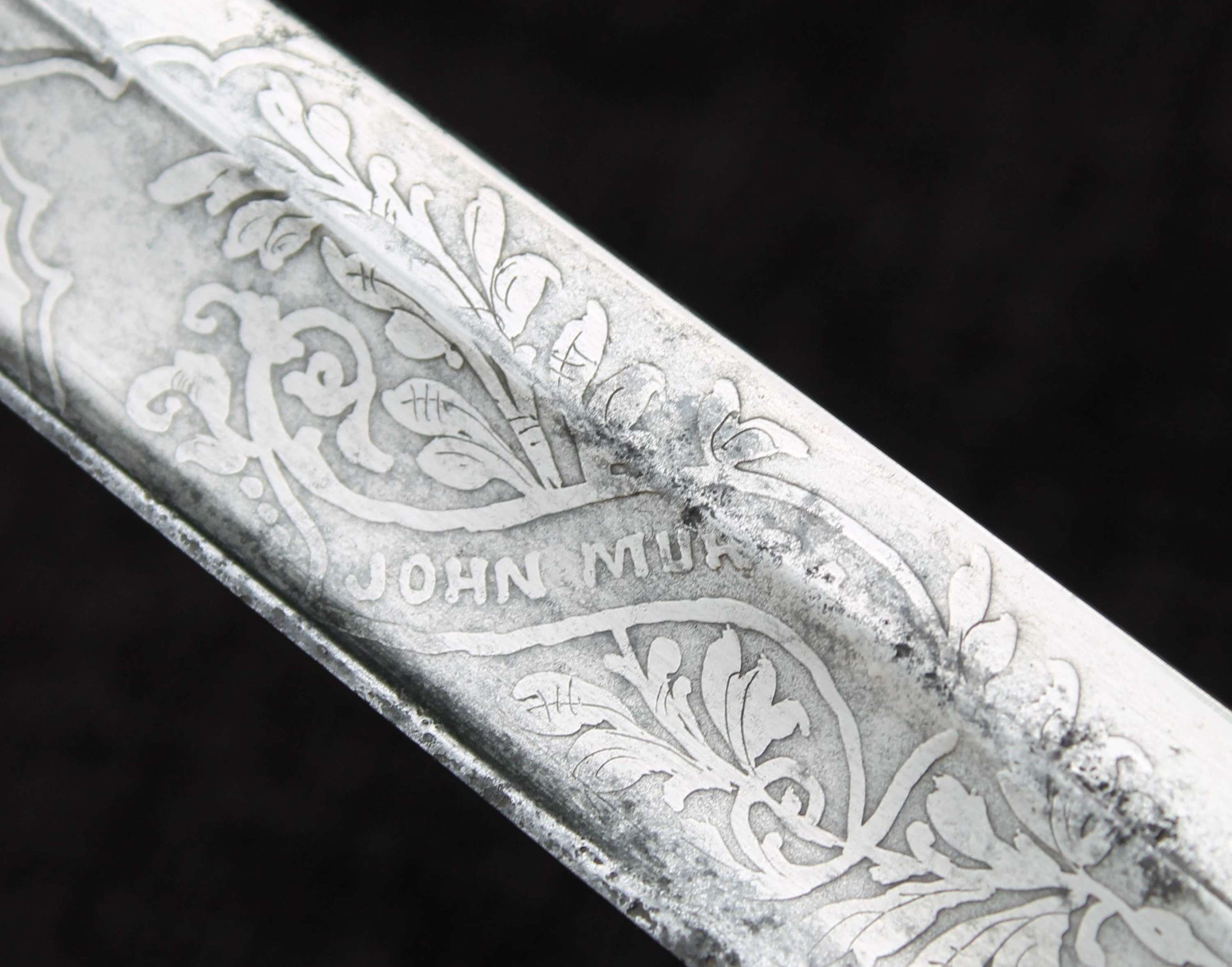 Named Victorian 1897 Hilted Officers Sword