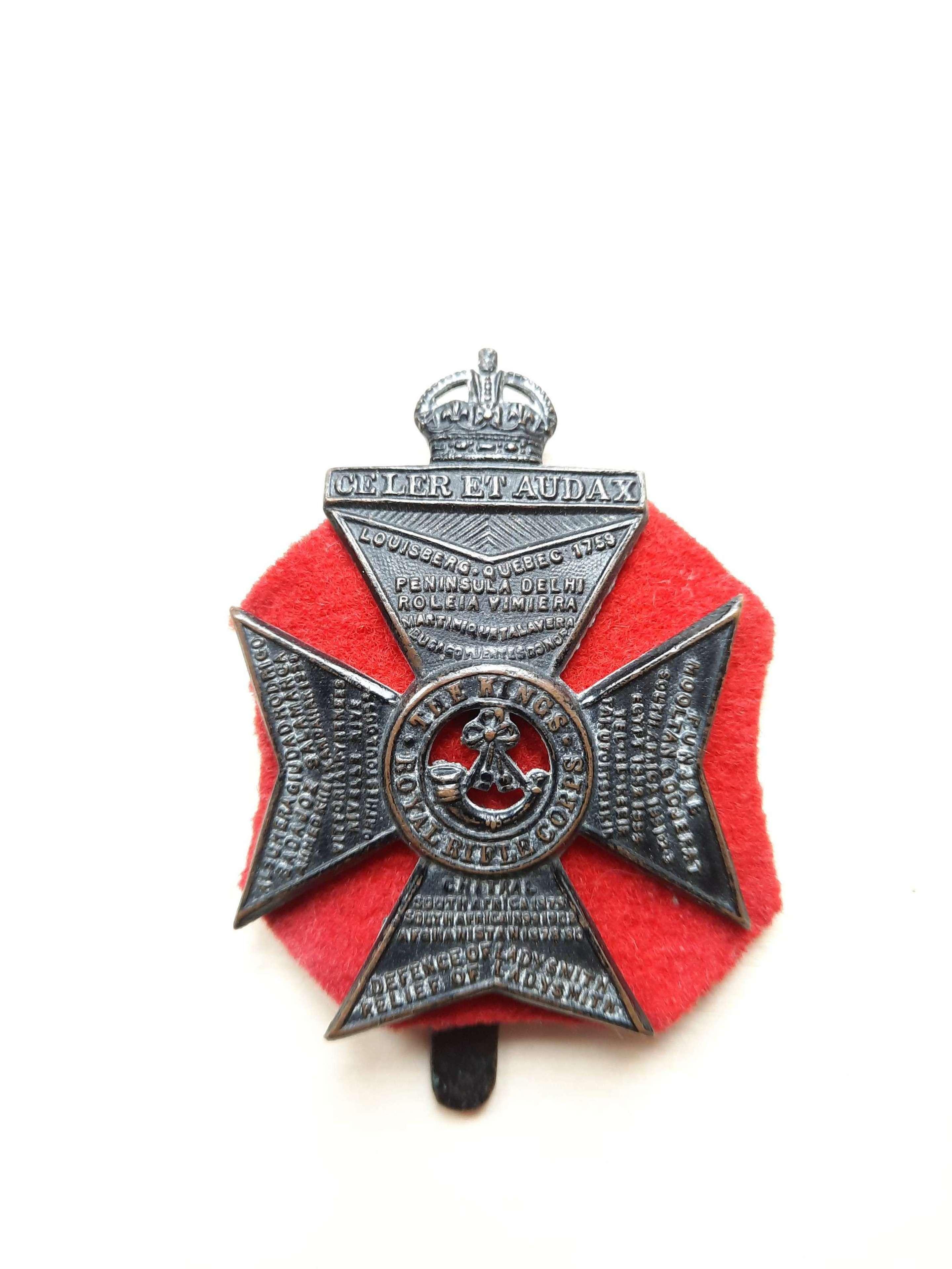 King's Royal Rifle Corps Cap Badge