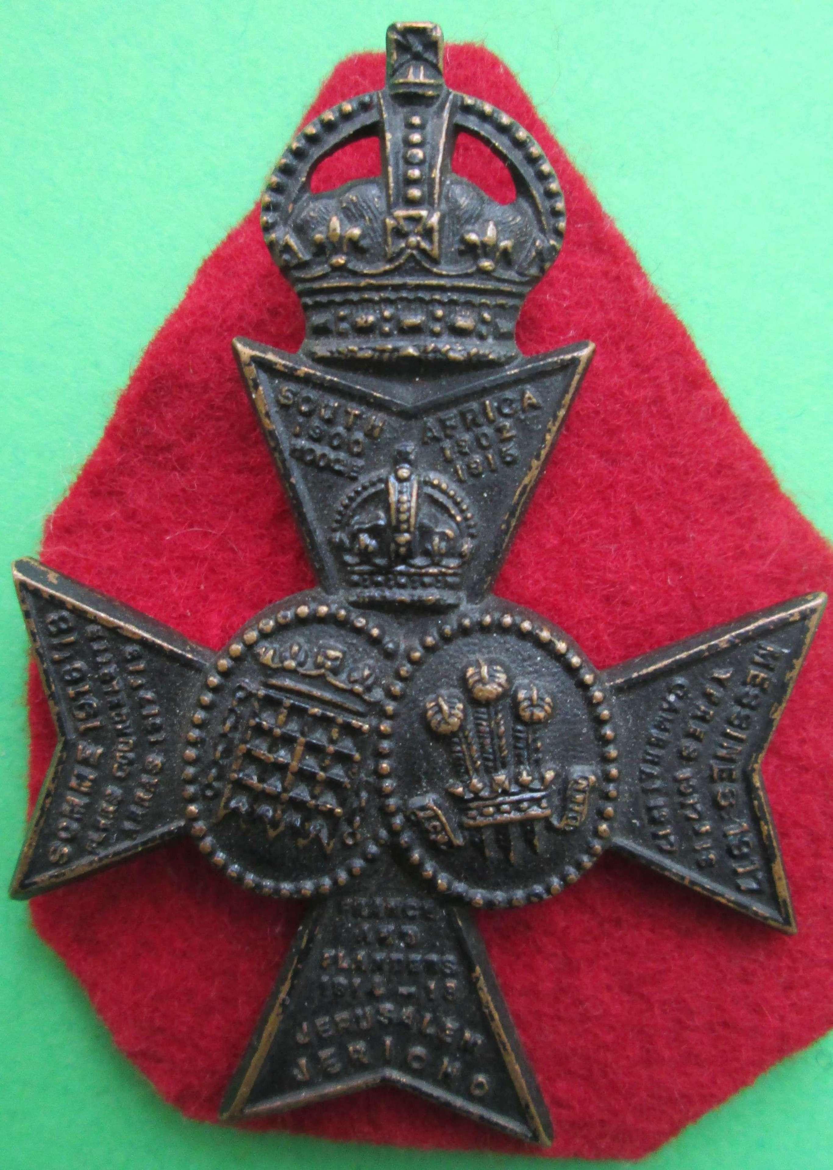 A 16TH LONDON BATTALION CAP BADGE