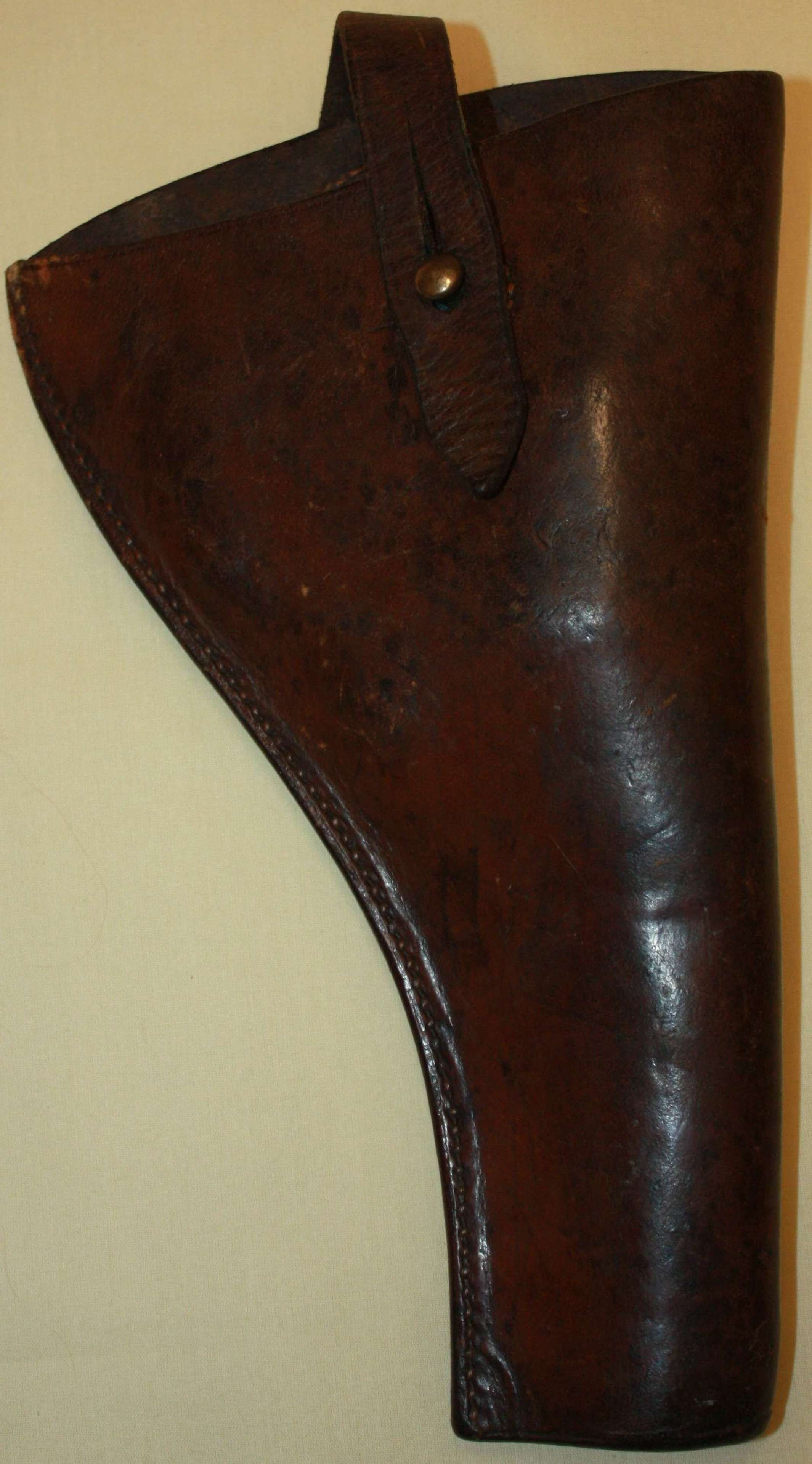 A VERY GOOD EARLY WWI 1915 DATED OPEN TOP PISTOL HOLSTER 03 PATTERN
