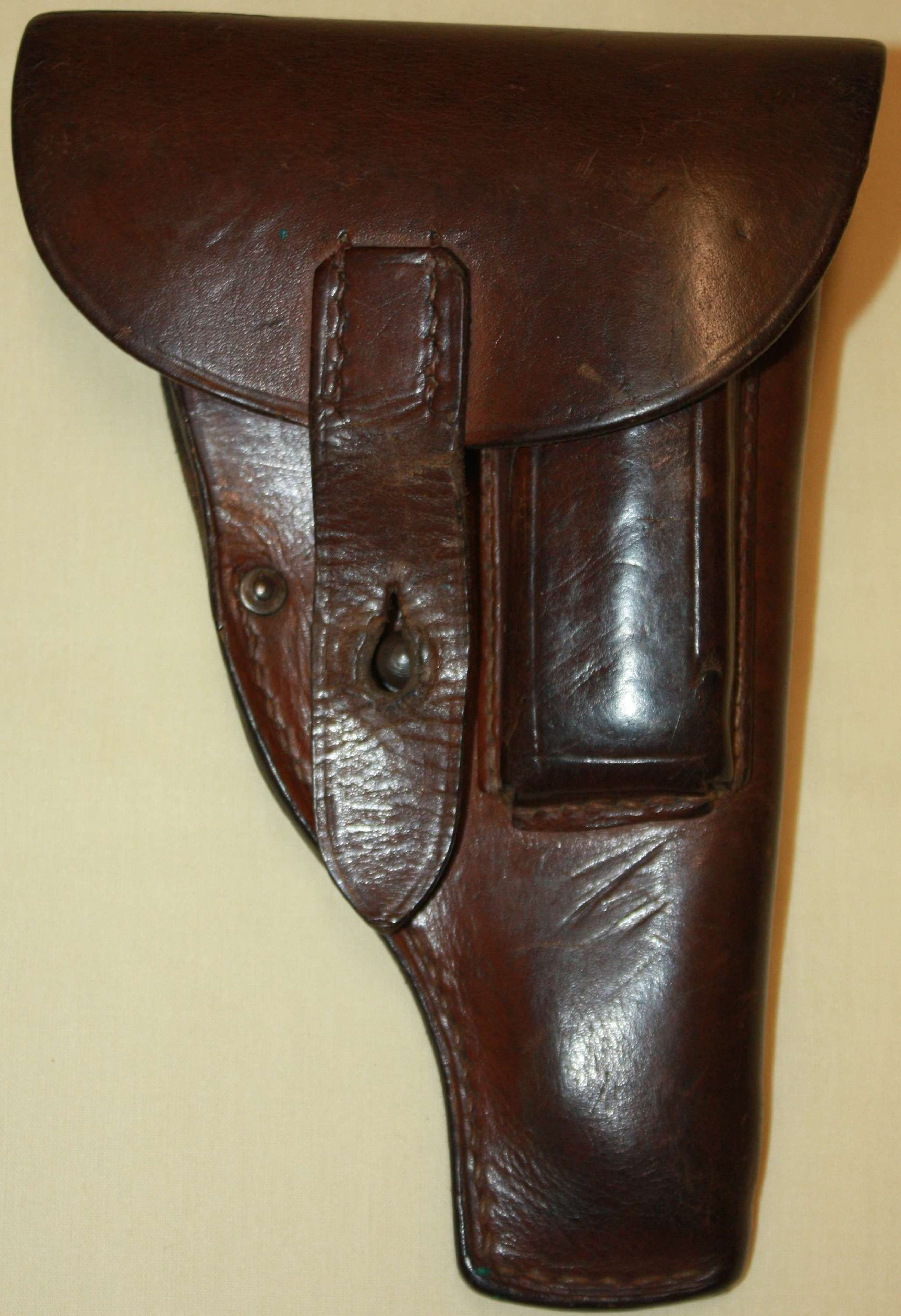 A SCARCE WWI 1918 DATED GERMAN 7.65 CAL PISTOL HOLSTER VGC