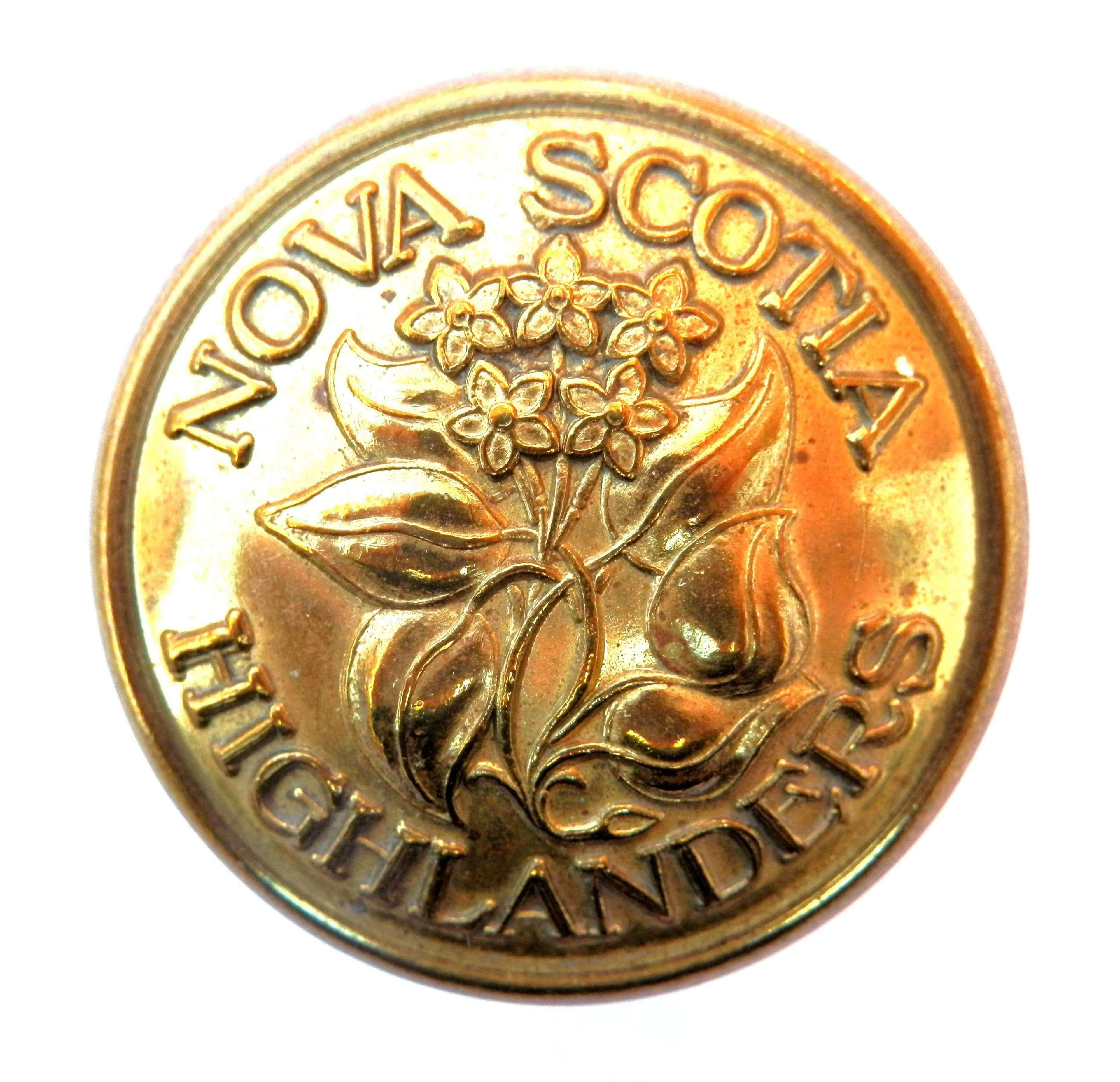 Nova Scotia Highlanders, Canadian issue Button.
