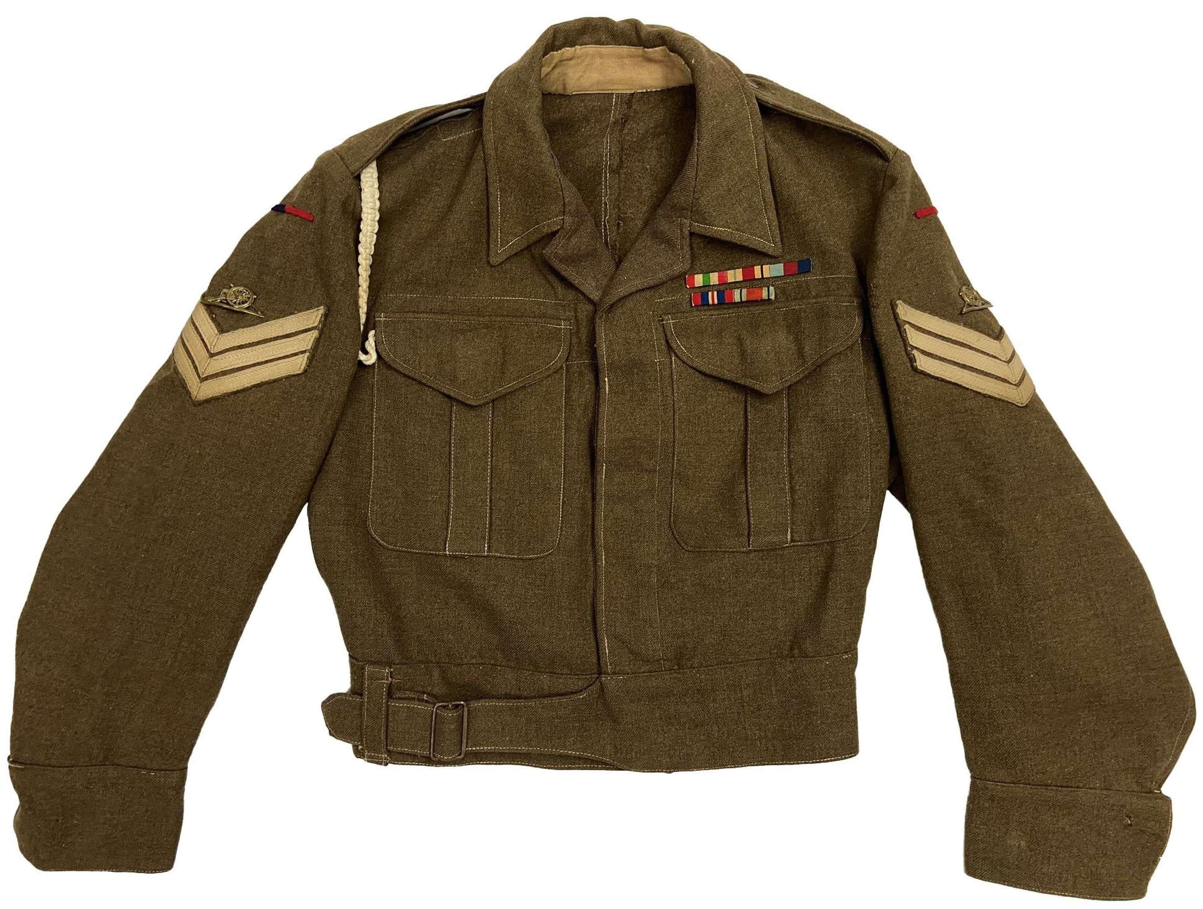 Original 1942 Dated Royal Royal Artillery Sergeants Battledress Blouse