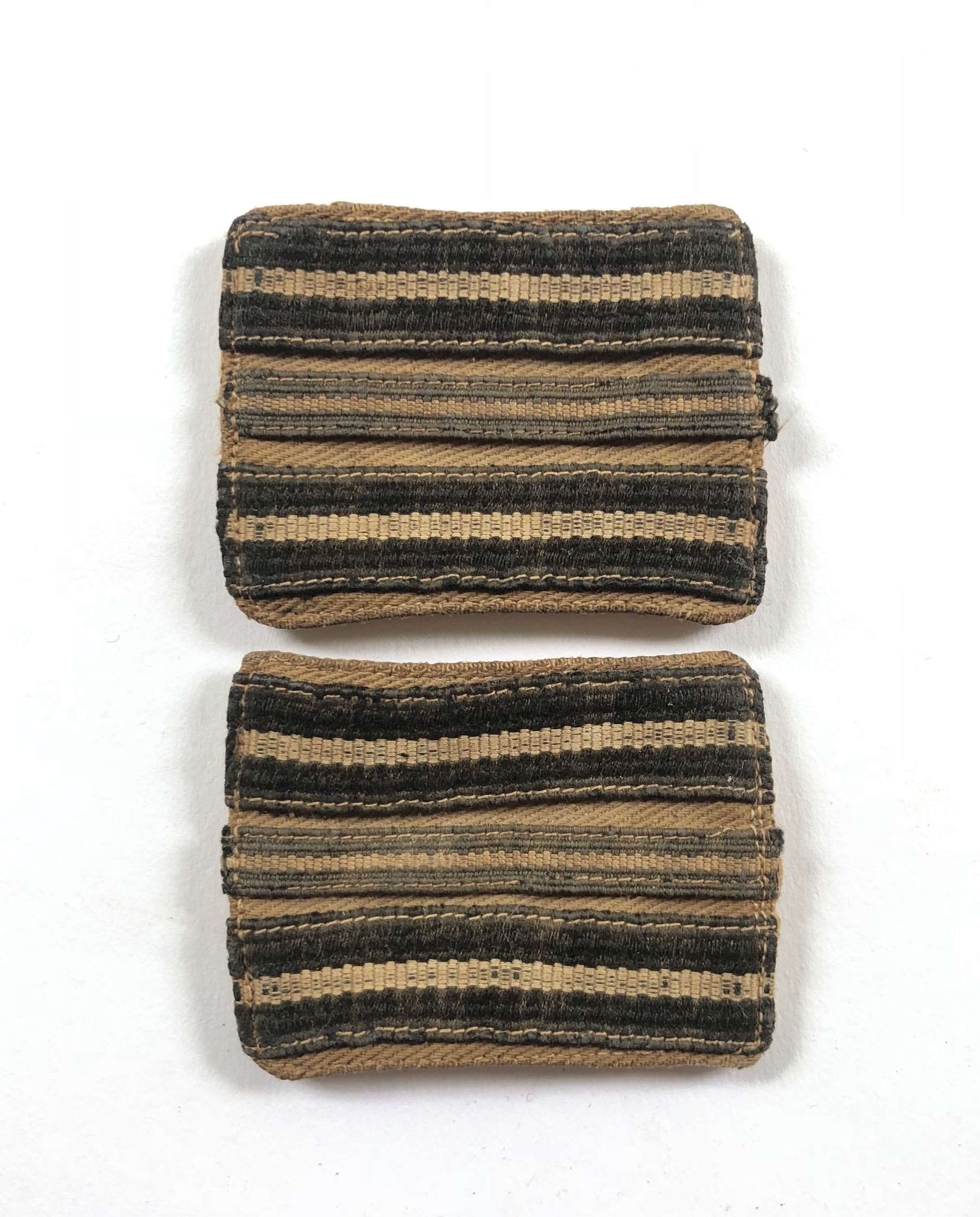 WW2 RAF Middle East Italy Officer's Rank Slides.