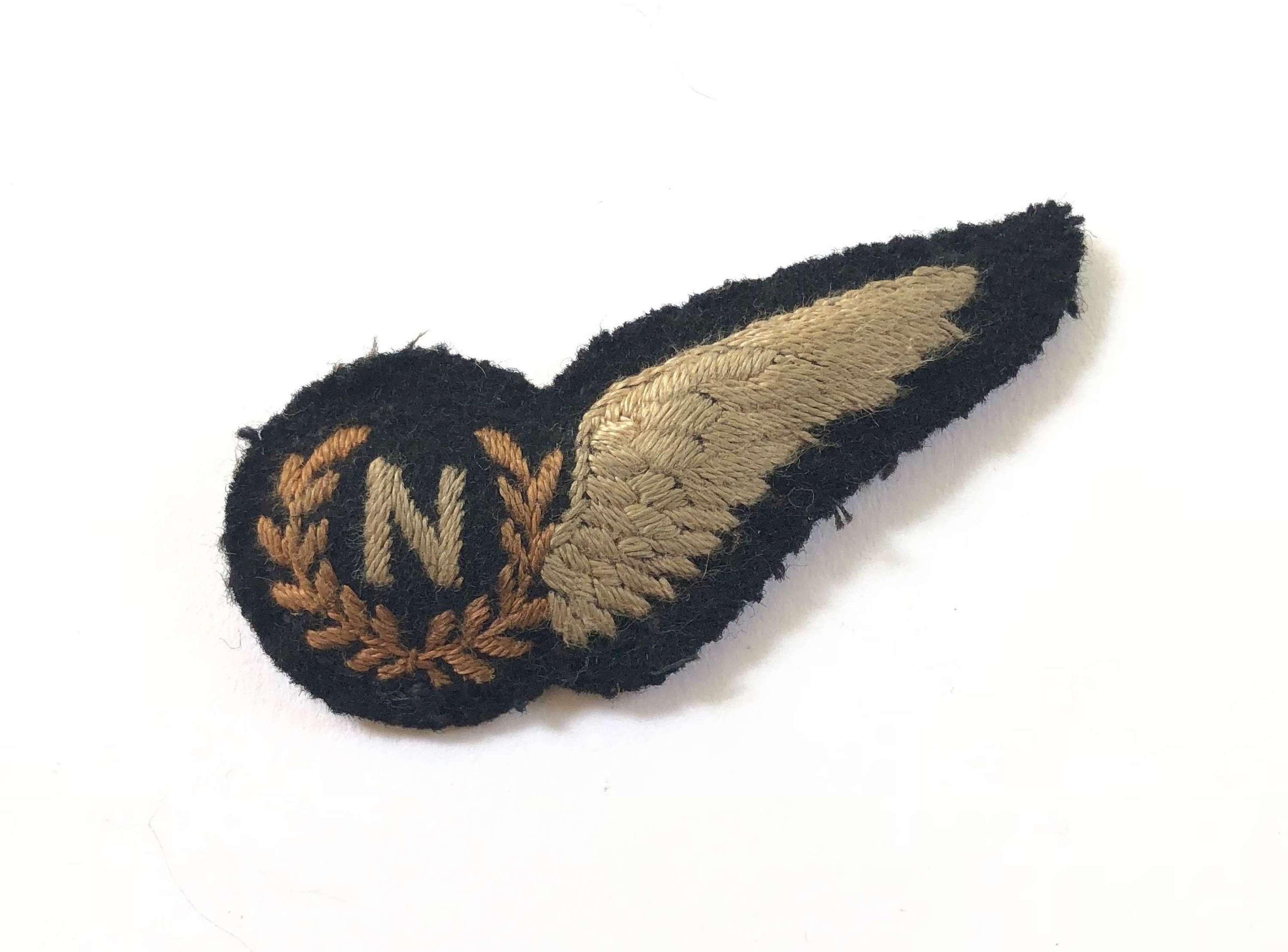 WW2 RAF Navigator's Padded Brevet Badge.