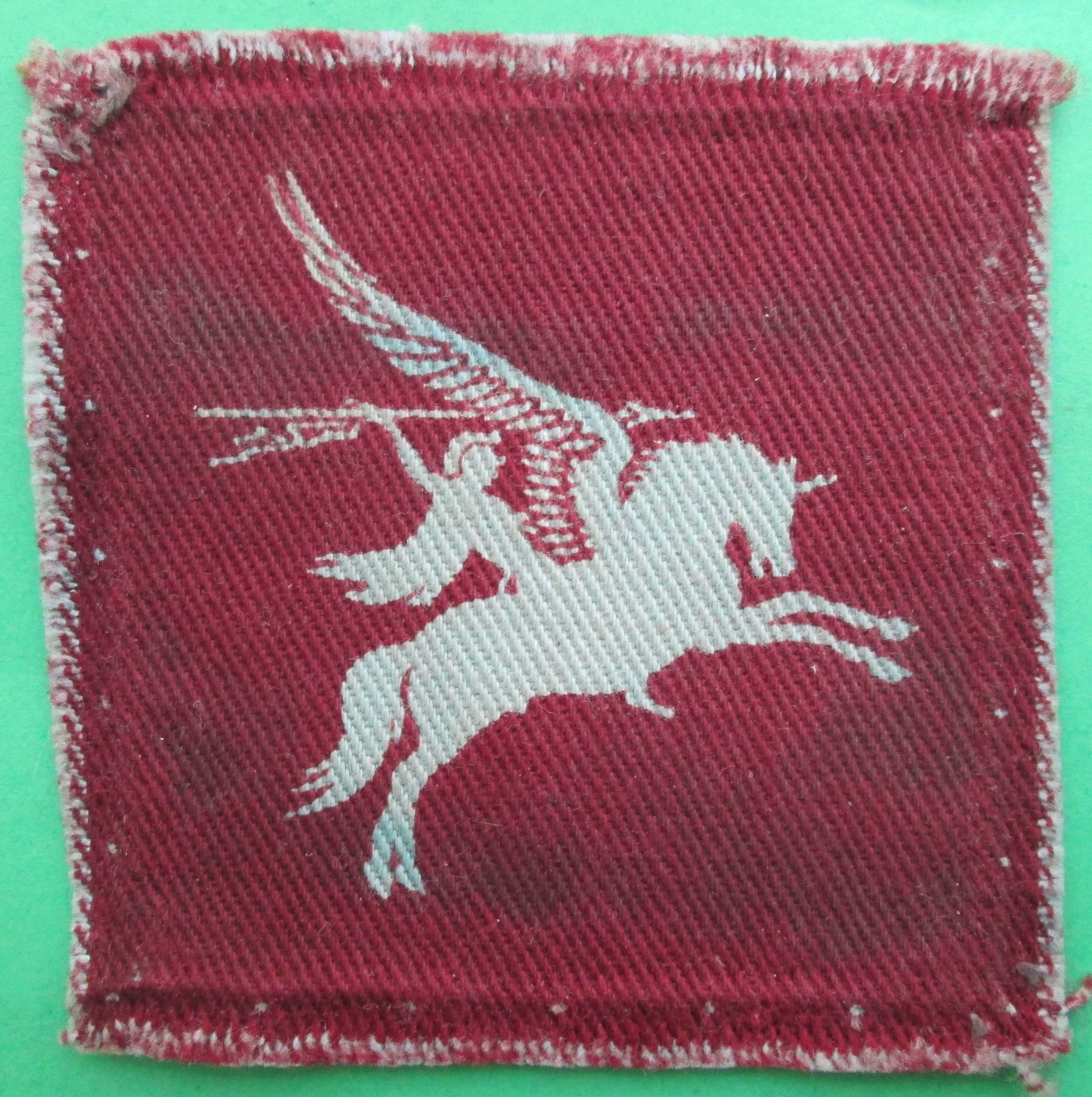 WWII PERIOD PRINTED AIRBOURNE PEGASUS PATCH