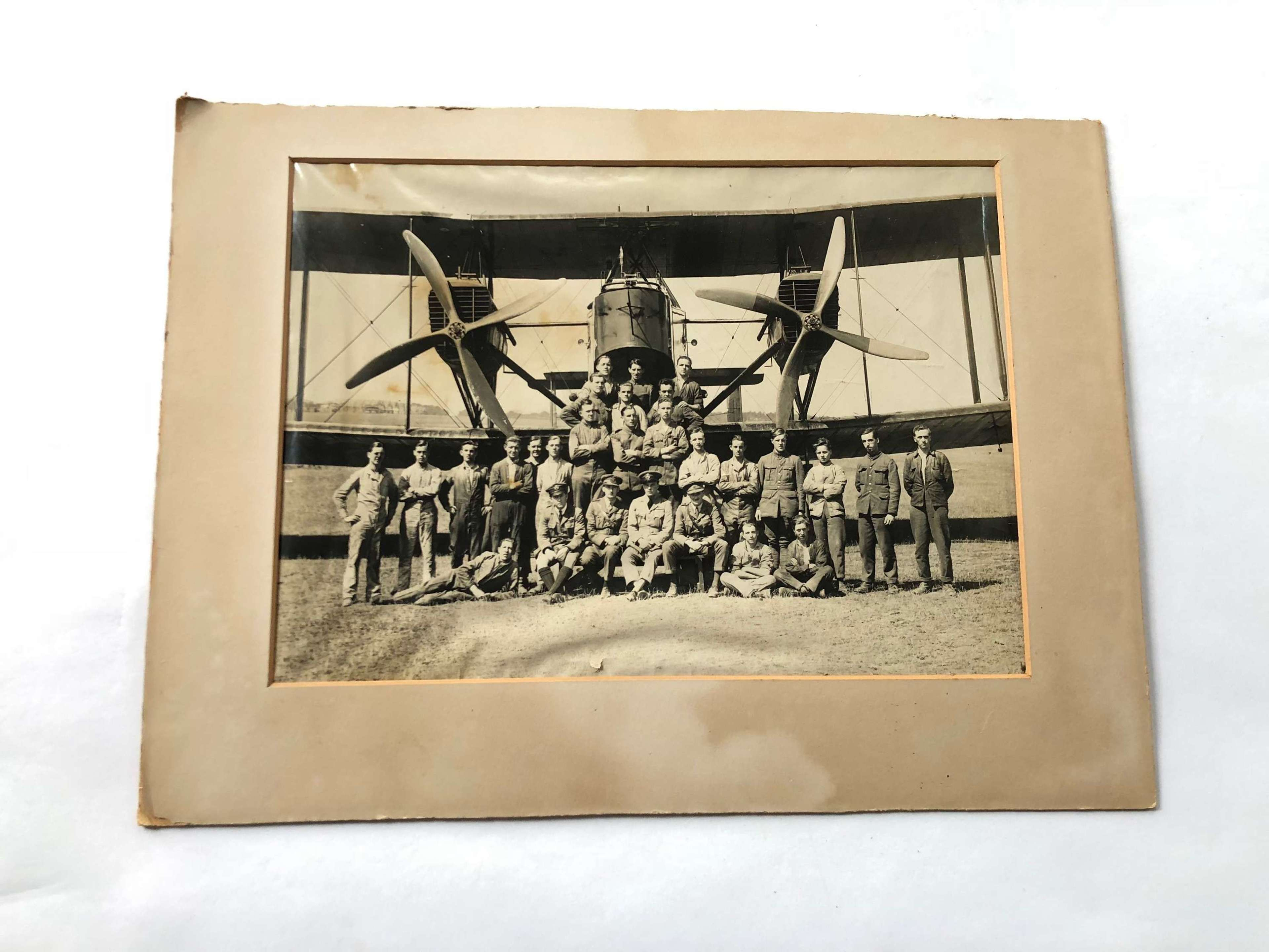 WW1 1918 RAF Large Photograph Handley Page Bomber.