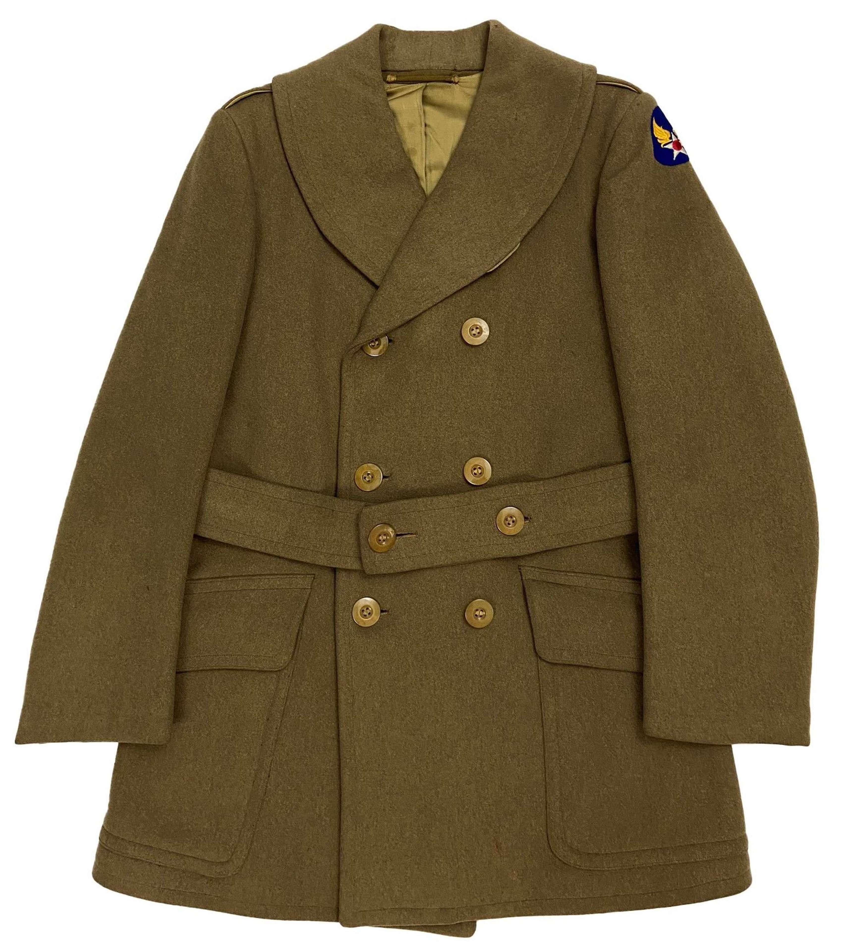 Original Early WW2 USAAF Officers Short Overcoat - Size 39S