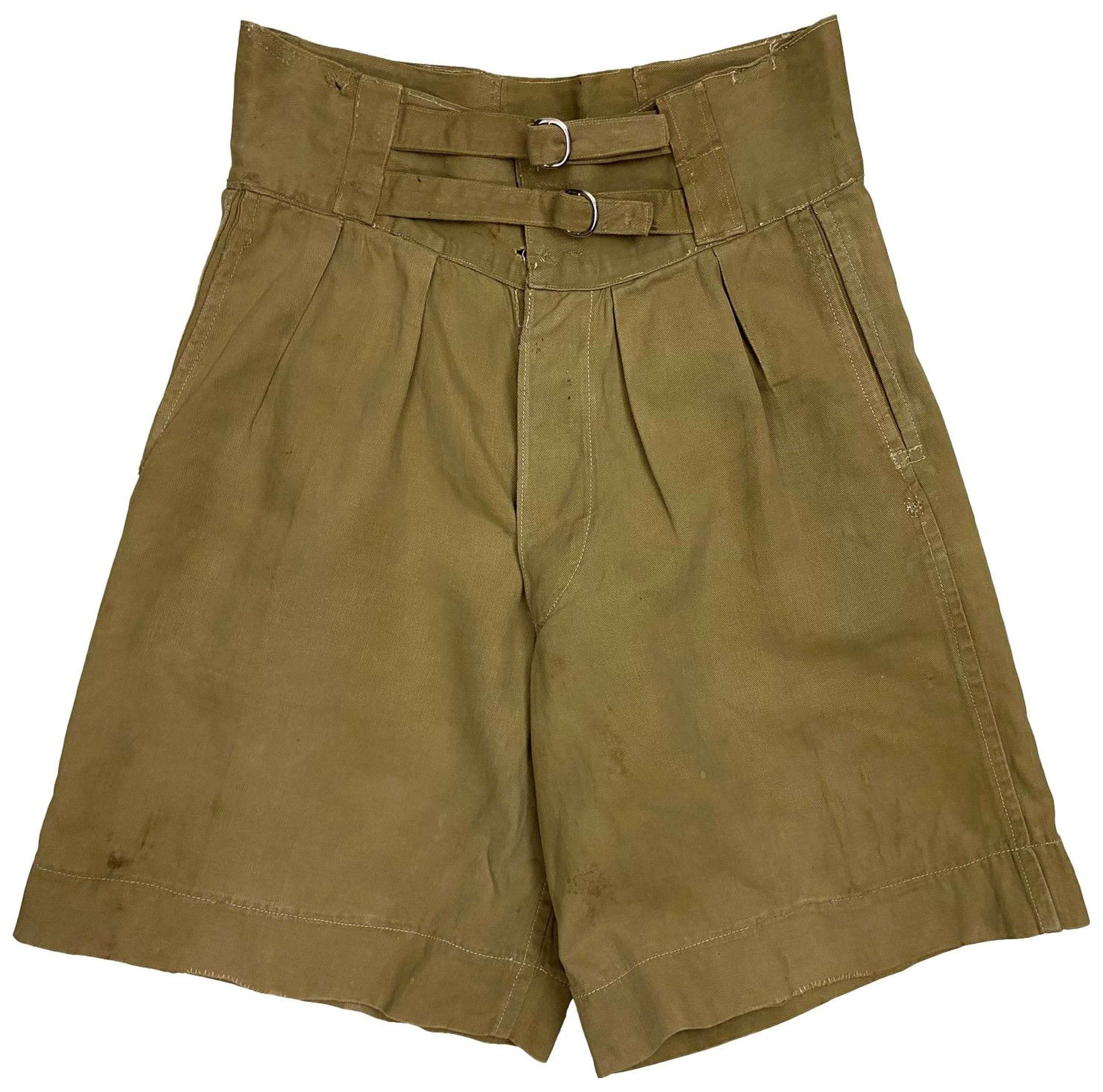 Original WW2 British 1941 Pattern Khaki Drill Shorts