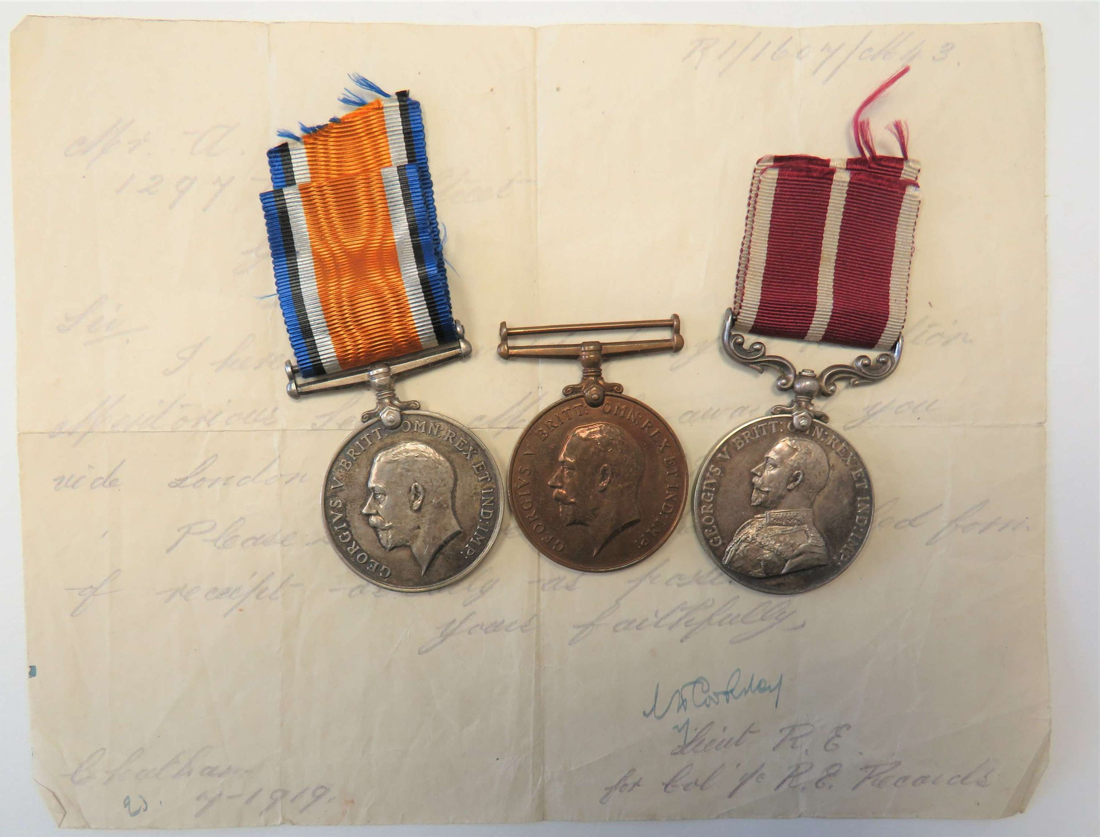 Rare WW1 Meritorious Service Medal Group Territorial Royal Engineers