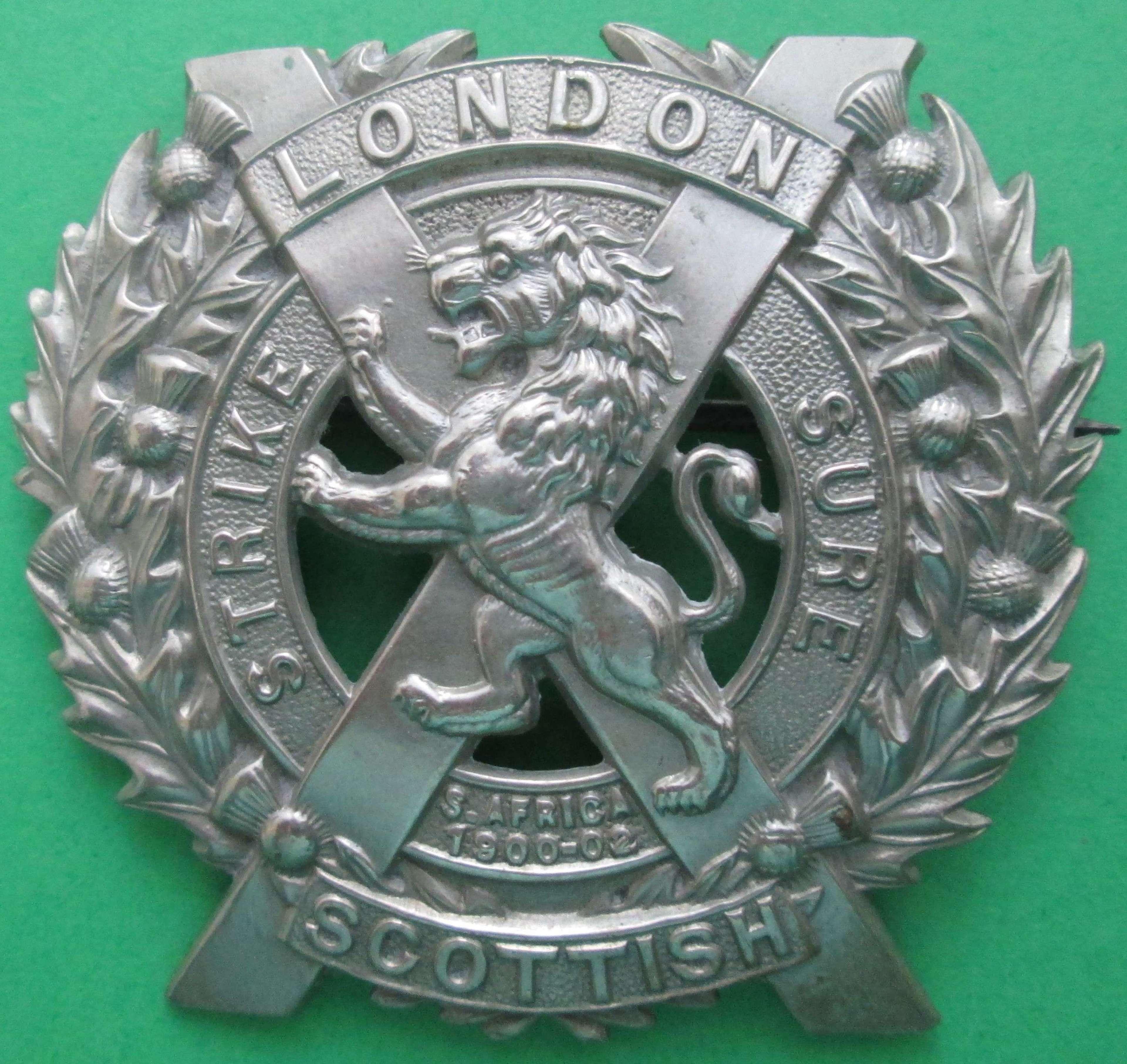 A LONDON SCOTTISH GLENGARRY BADGE