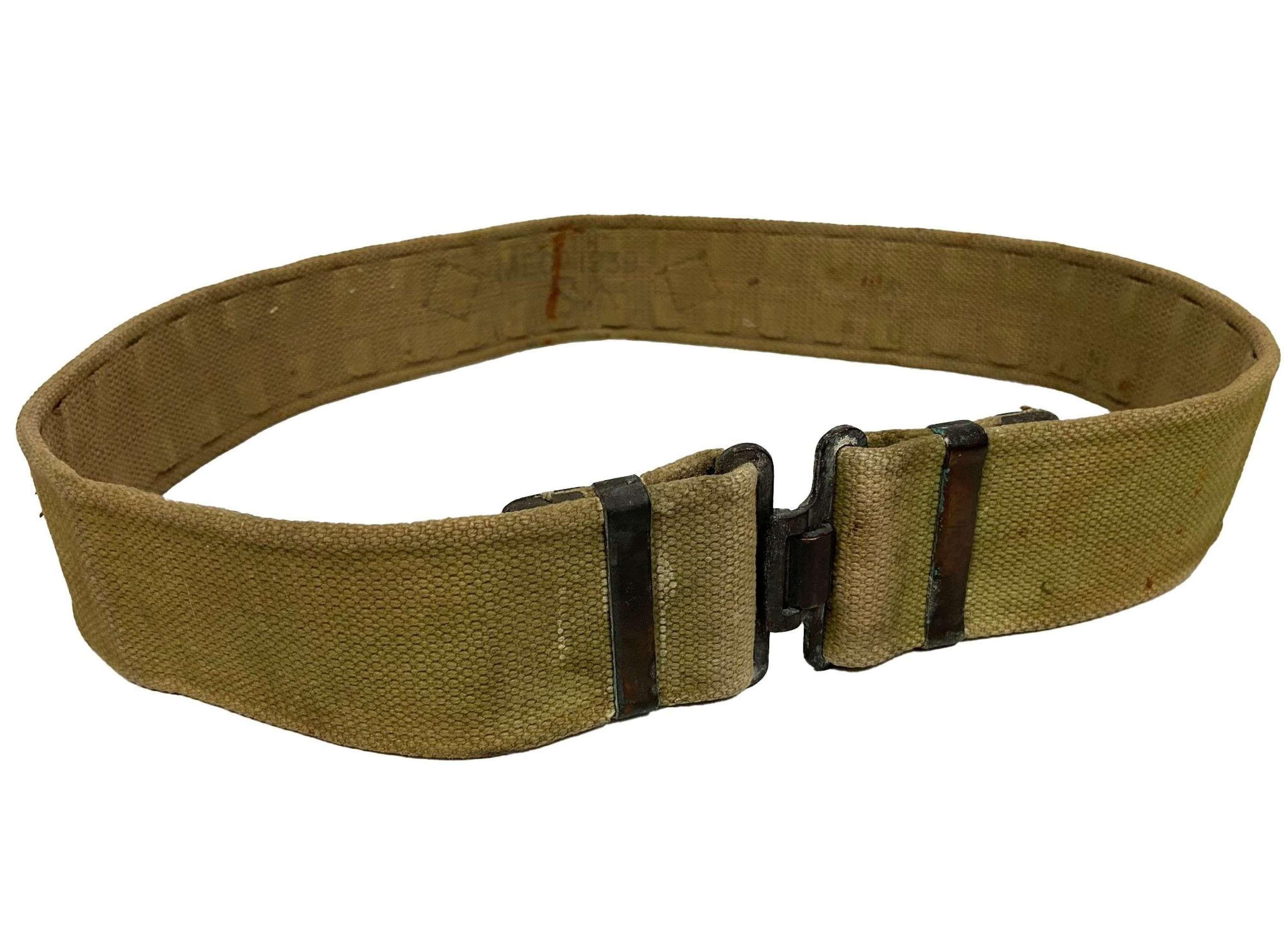 Original 1939 Dated British Army 1937 Pattern Webbing Belt