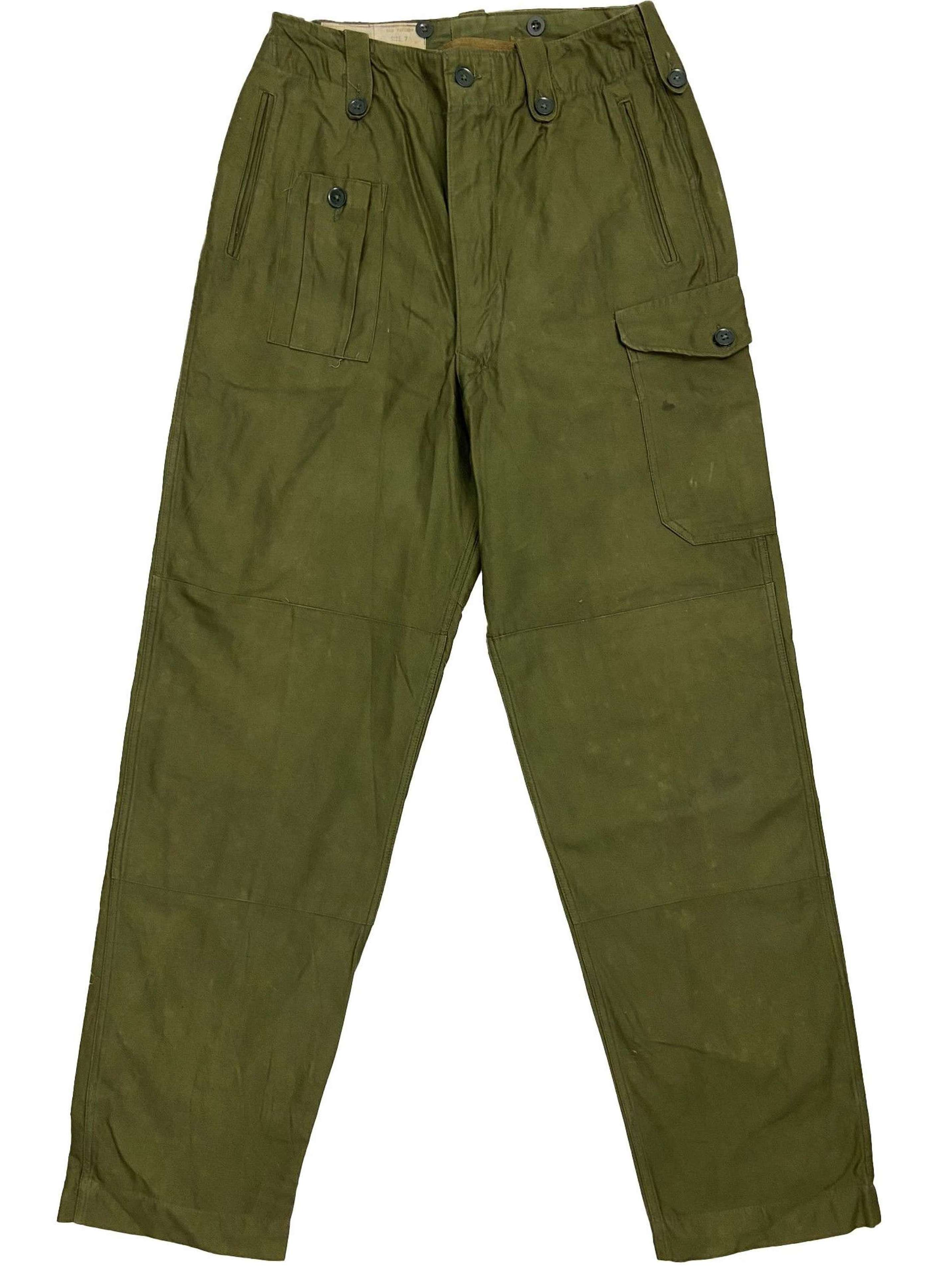 Original 1964 Dated 1960 Pattern Combat Trousers - Size 7