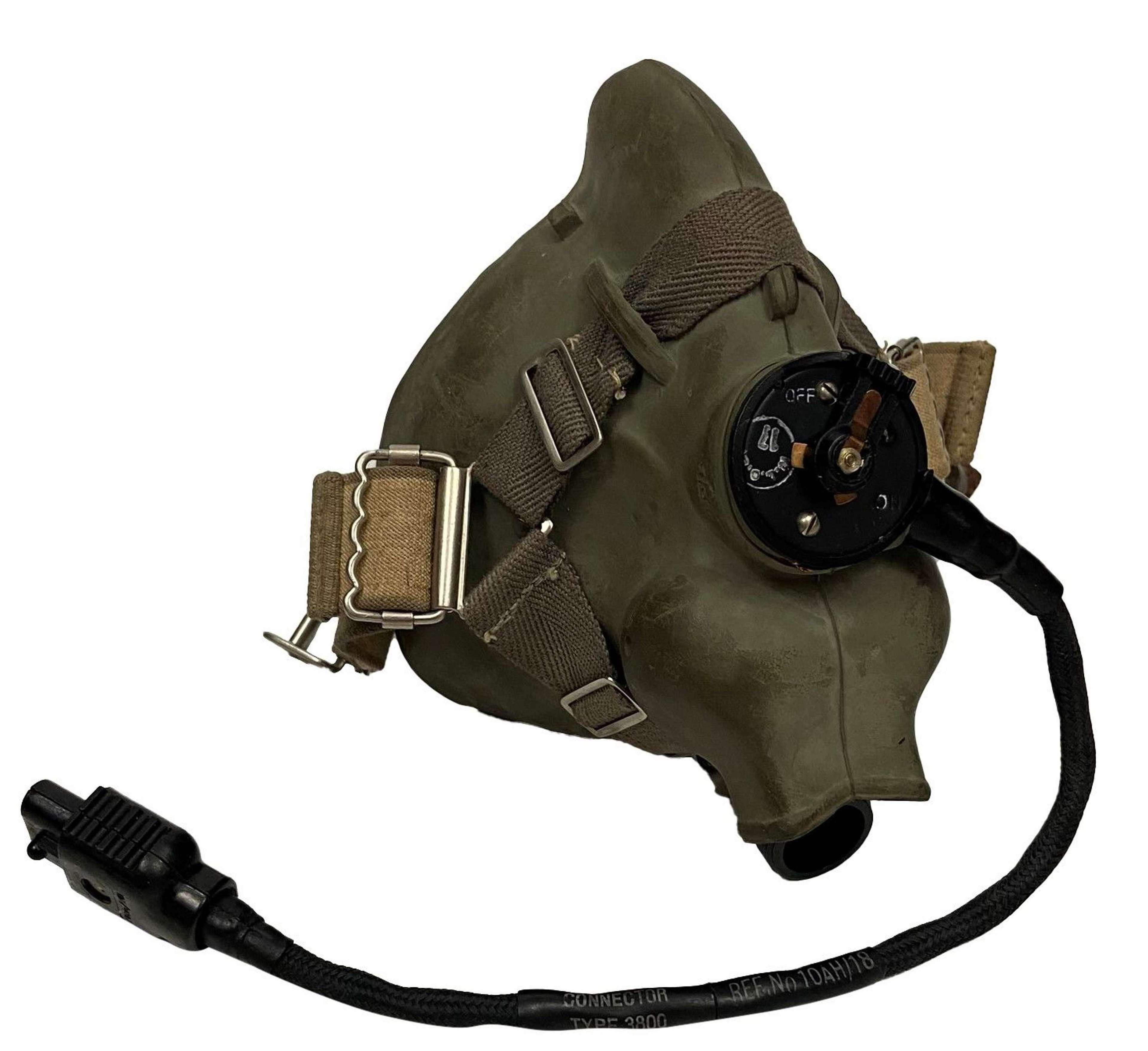 Original 1964 Dated RAF H Type Oxygen Mask - Size Large