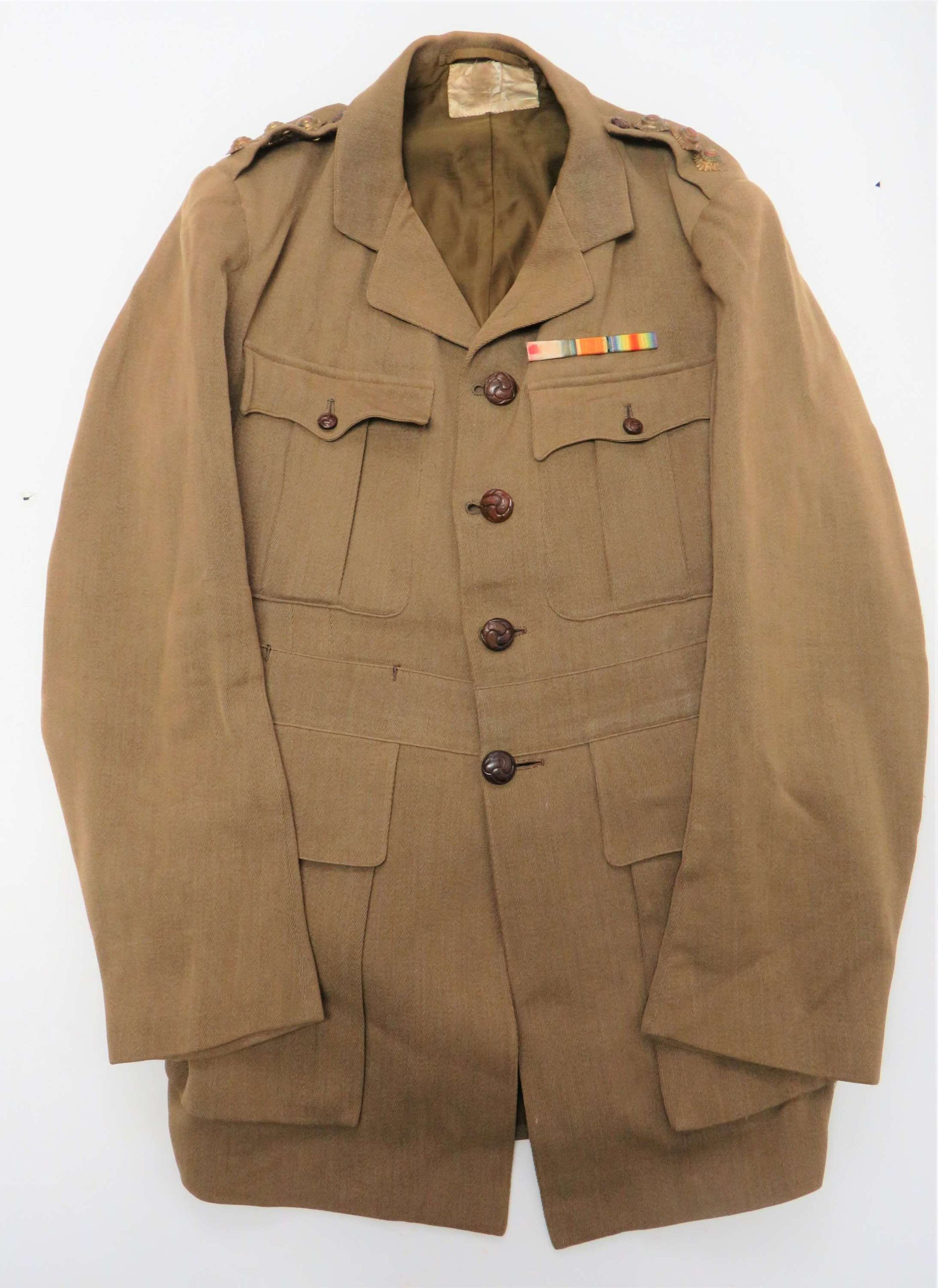 Early WW1 Officers Front Line Tunic Converted from Cuff Rank