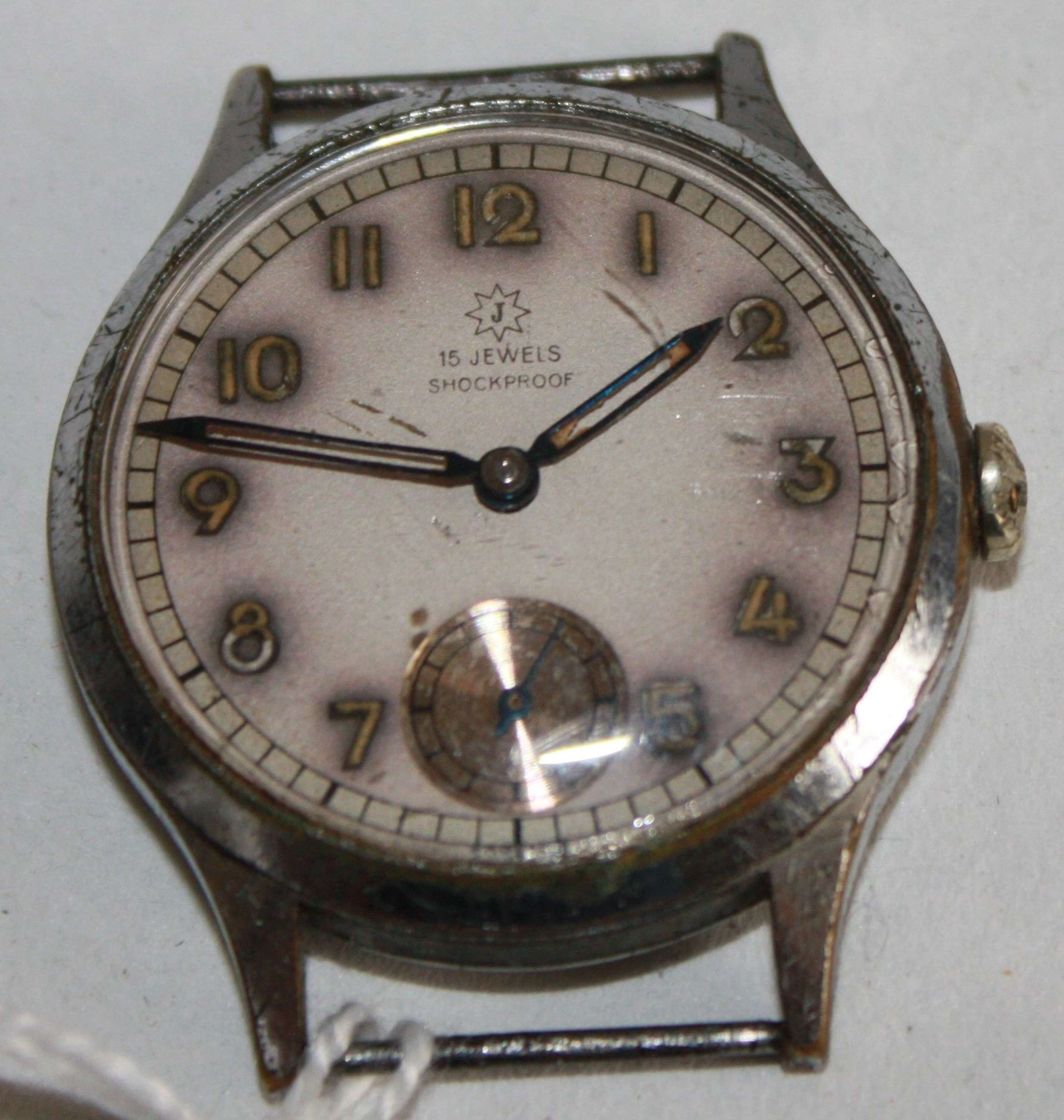 A GOOD WORKING WWII PERIOD PRIVATE PURCHASE GERMAN WRIST WATCH