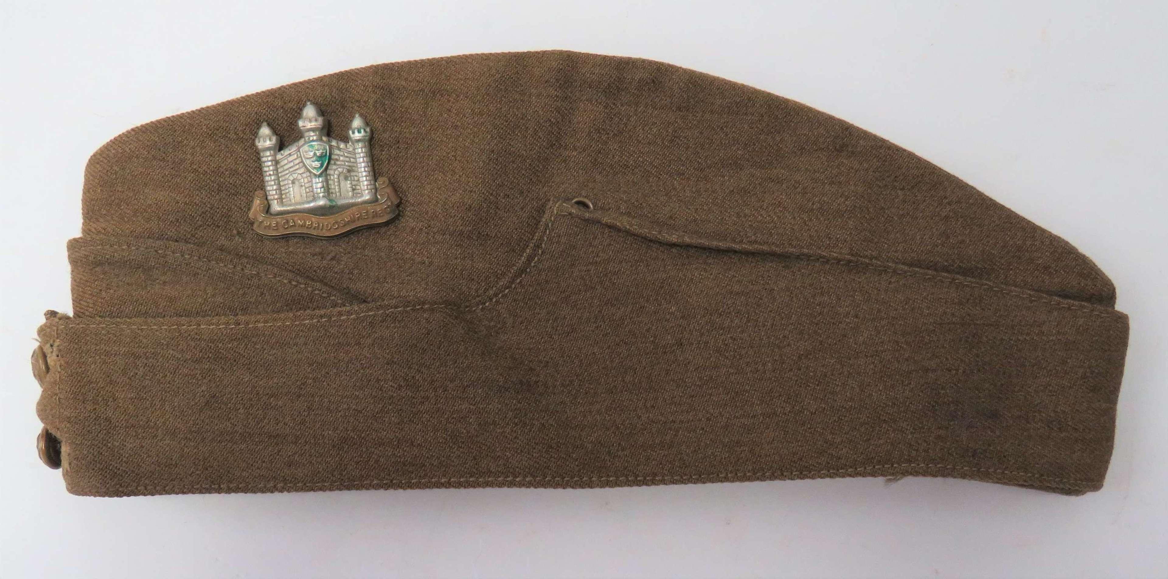 1939 Dated Cambridgeshire Regiment Other Ranks Field Service Cap