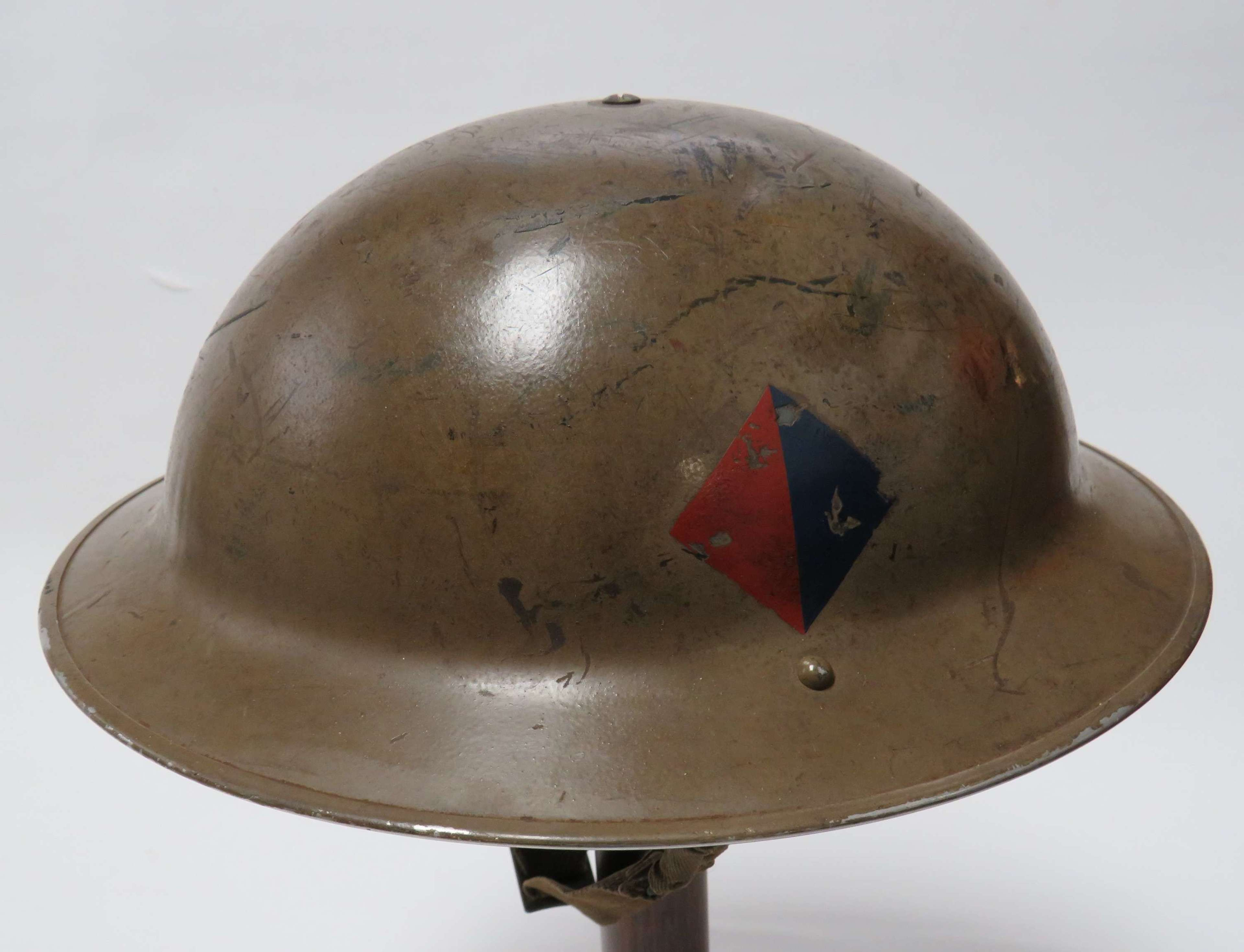 1938 Dated Royal Artillery Badged Steel Helmet Typical for Dunkirk