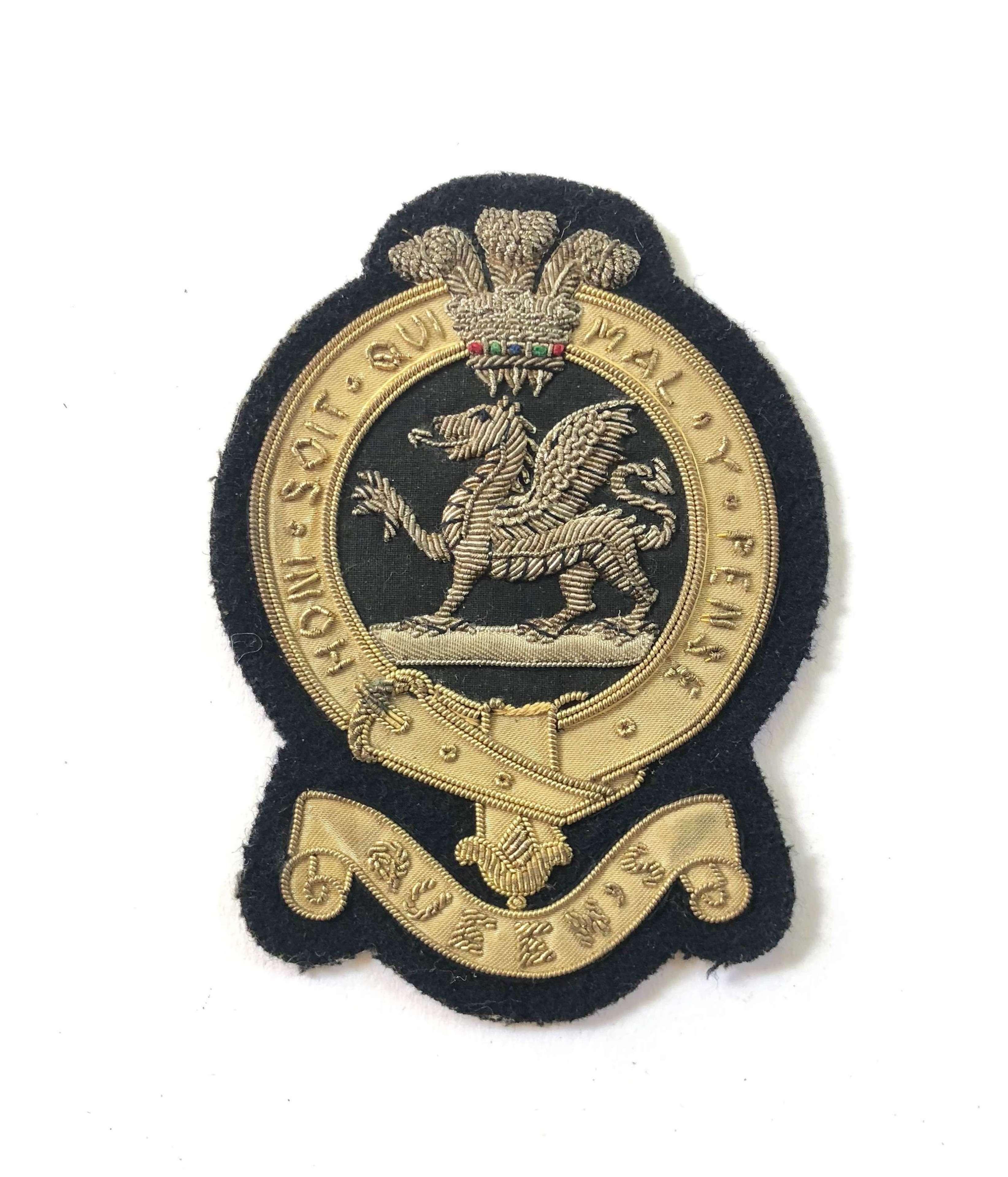 Vintage Buffs The East Kent Regiment Blazer Badge.
