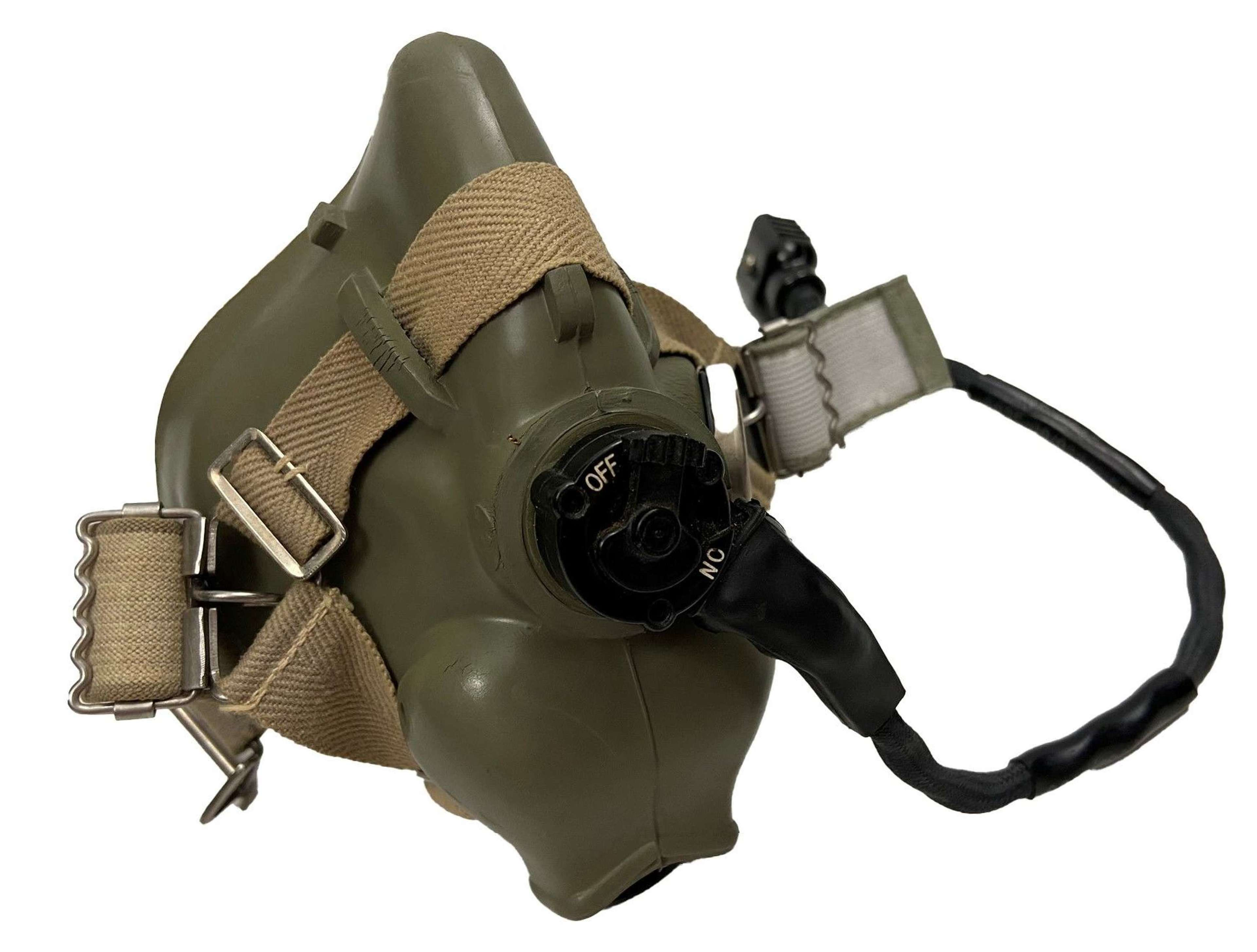 Original 1974 Dated RAF H Type Oxygen Mask - Size Medium