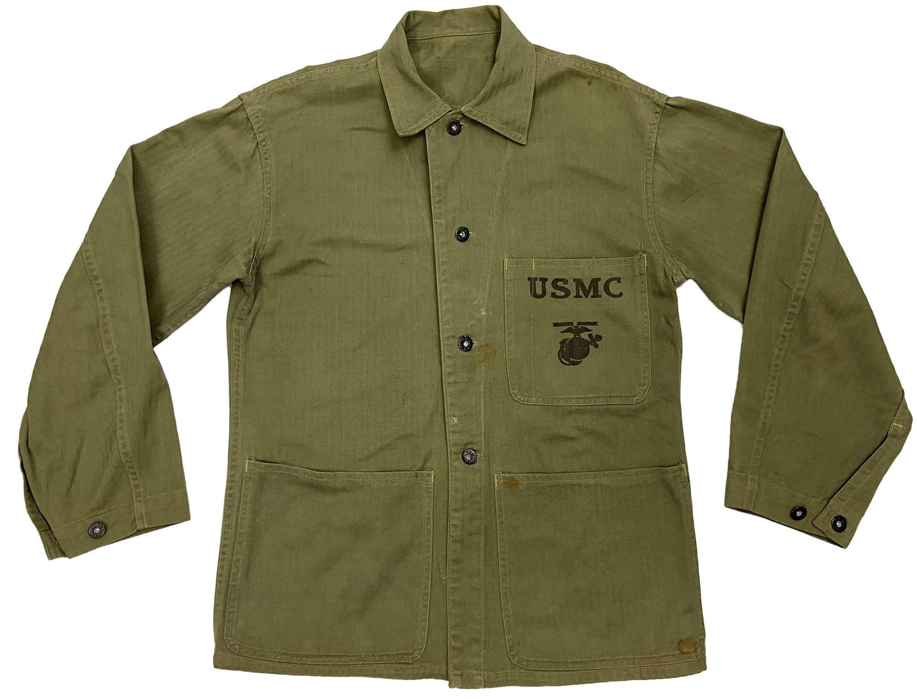 Original WW2 US Marine Corps P41 HBT Jacket