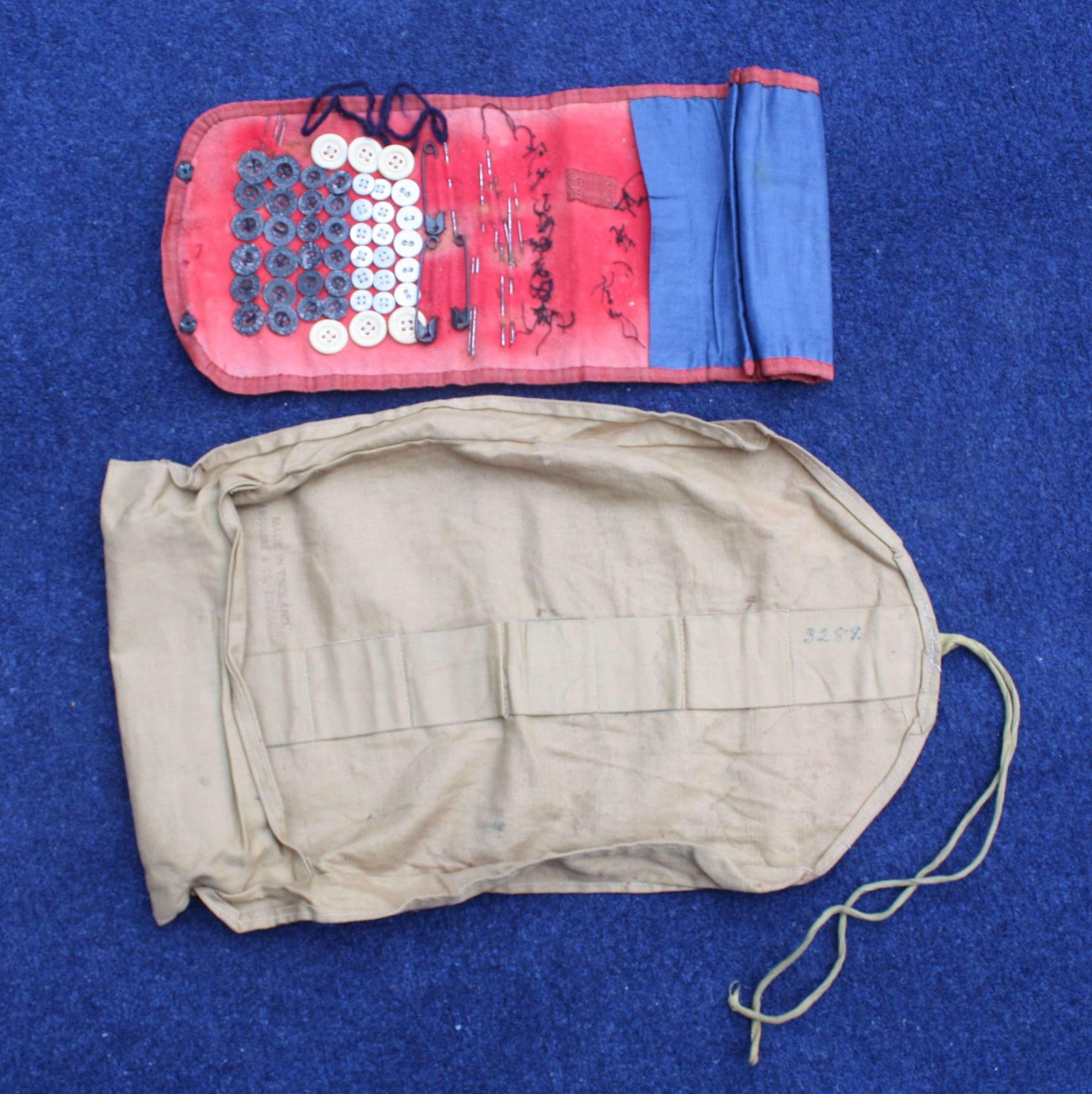 WW1 British Soldiers Khaki Cotton Holdall Wrap & Hussif