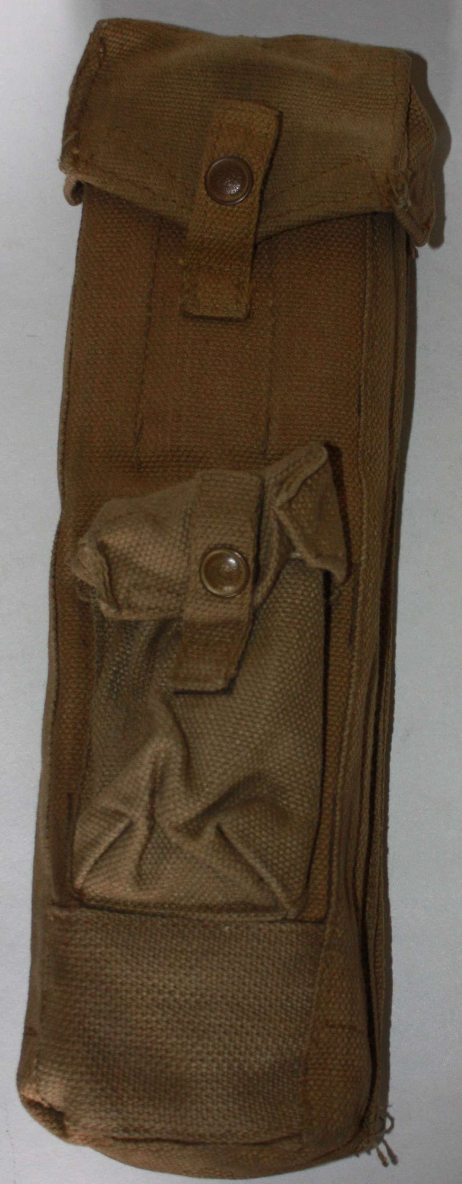 A VERY GOOD LANCHESTER MAGAZINE POUCH