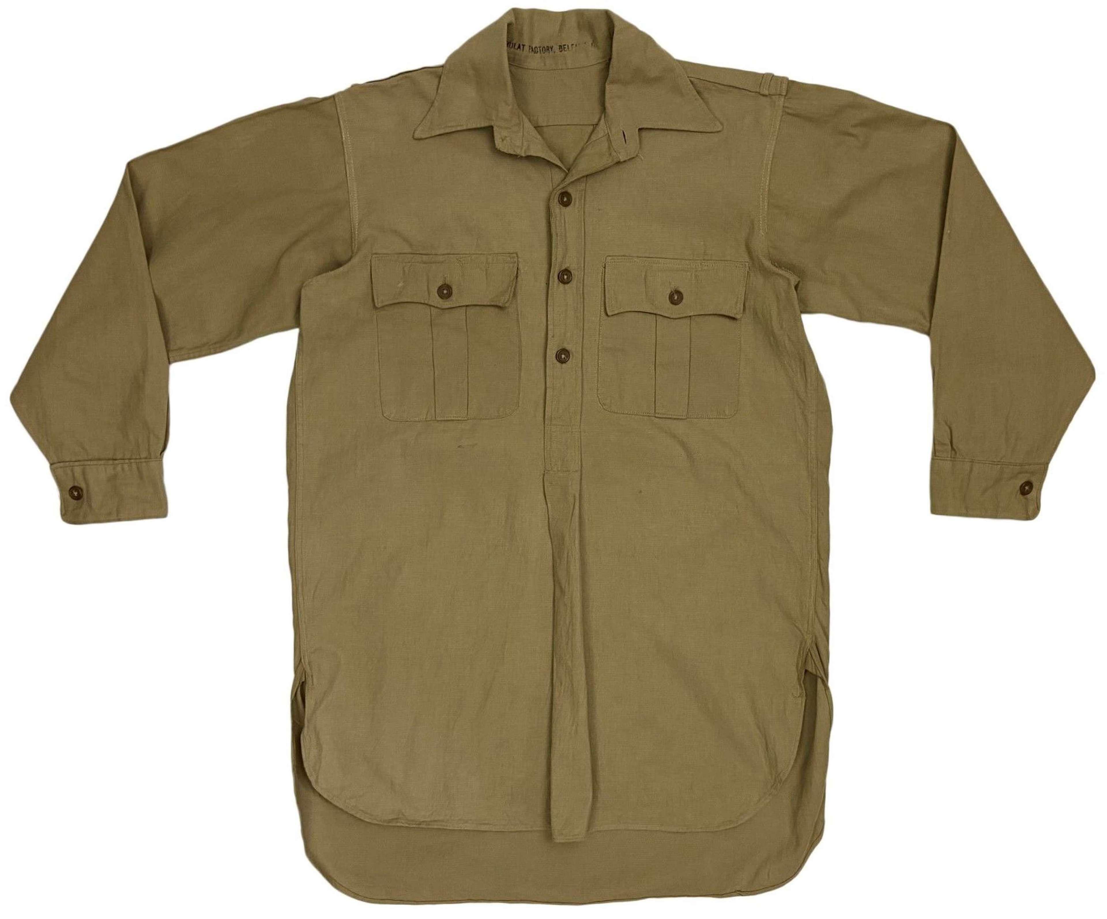 Original WW2 British Khaki Drill Shirt - Size 4