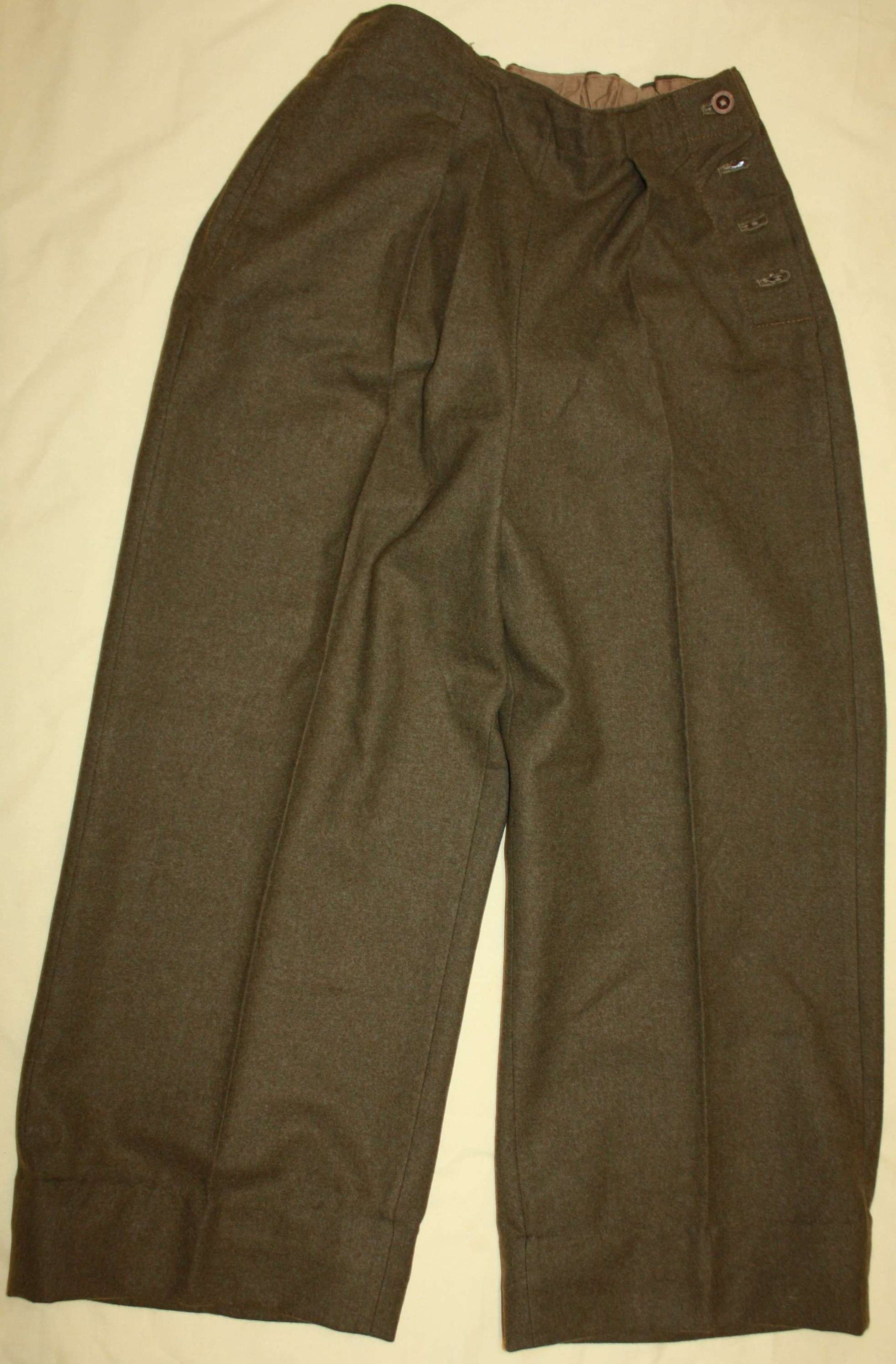 A PAIR OF WWII ATS SLACKS LARG SIZE 1942 WD STAMP