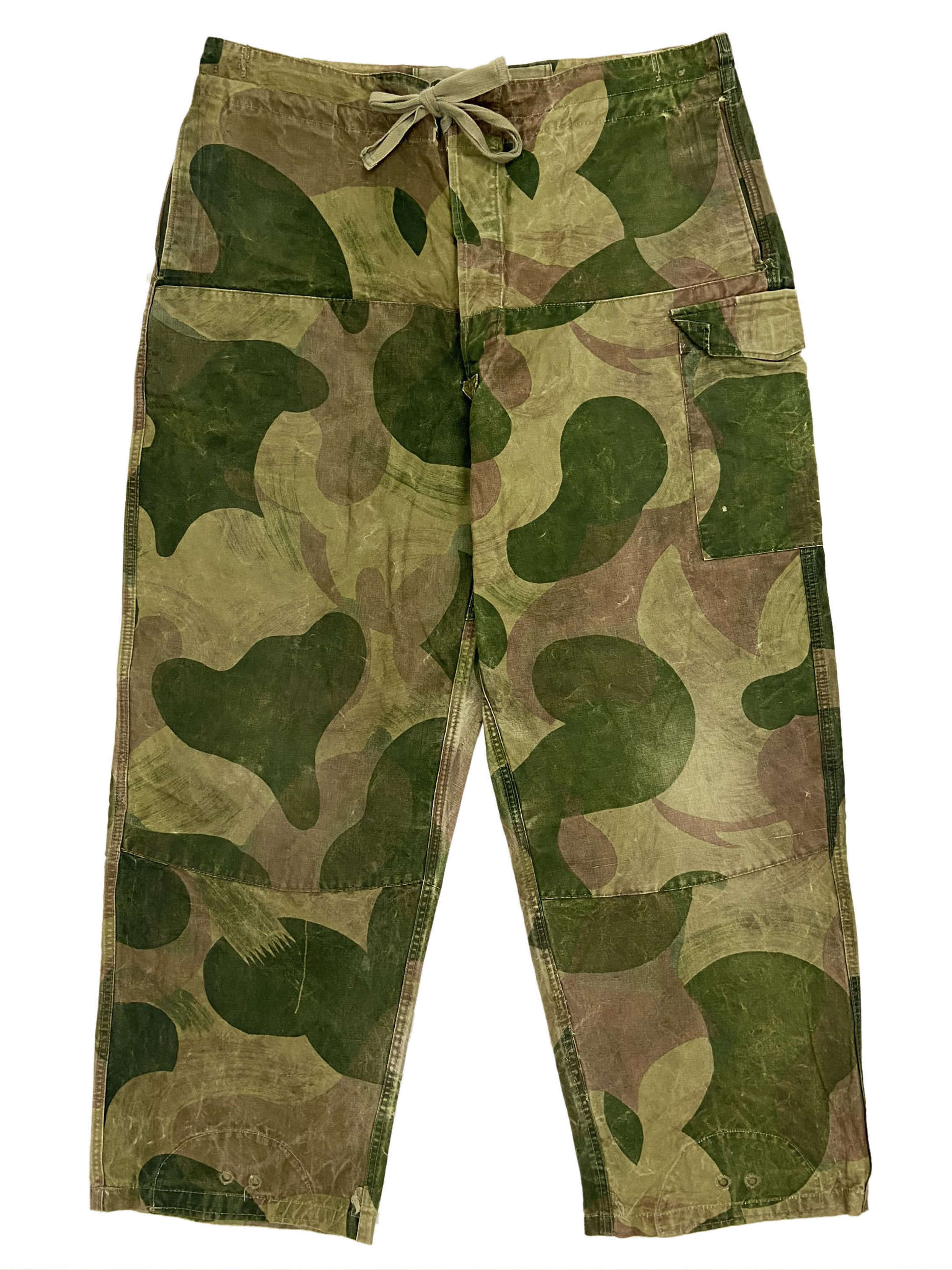 Original 1956 Dated Belgian Army Brushstroke Camouflage Trousers