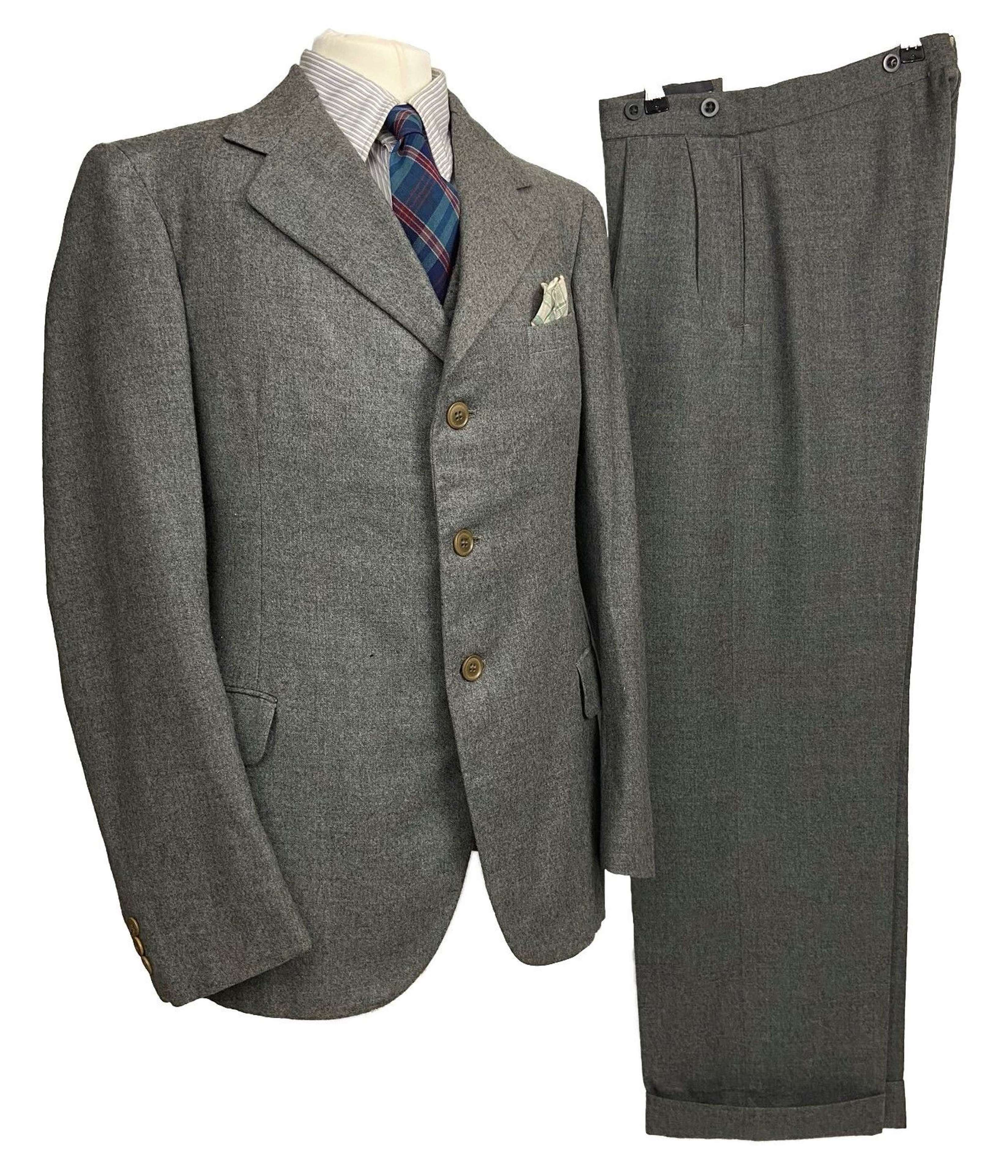 Scarce Original 1945 Dated British Demob Suit - Size 35S