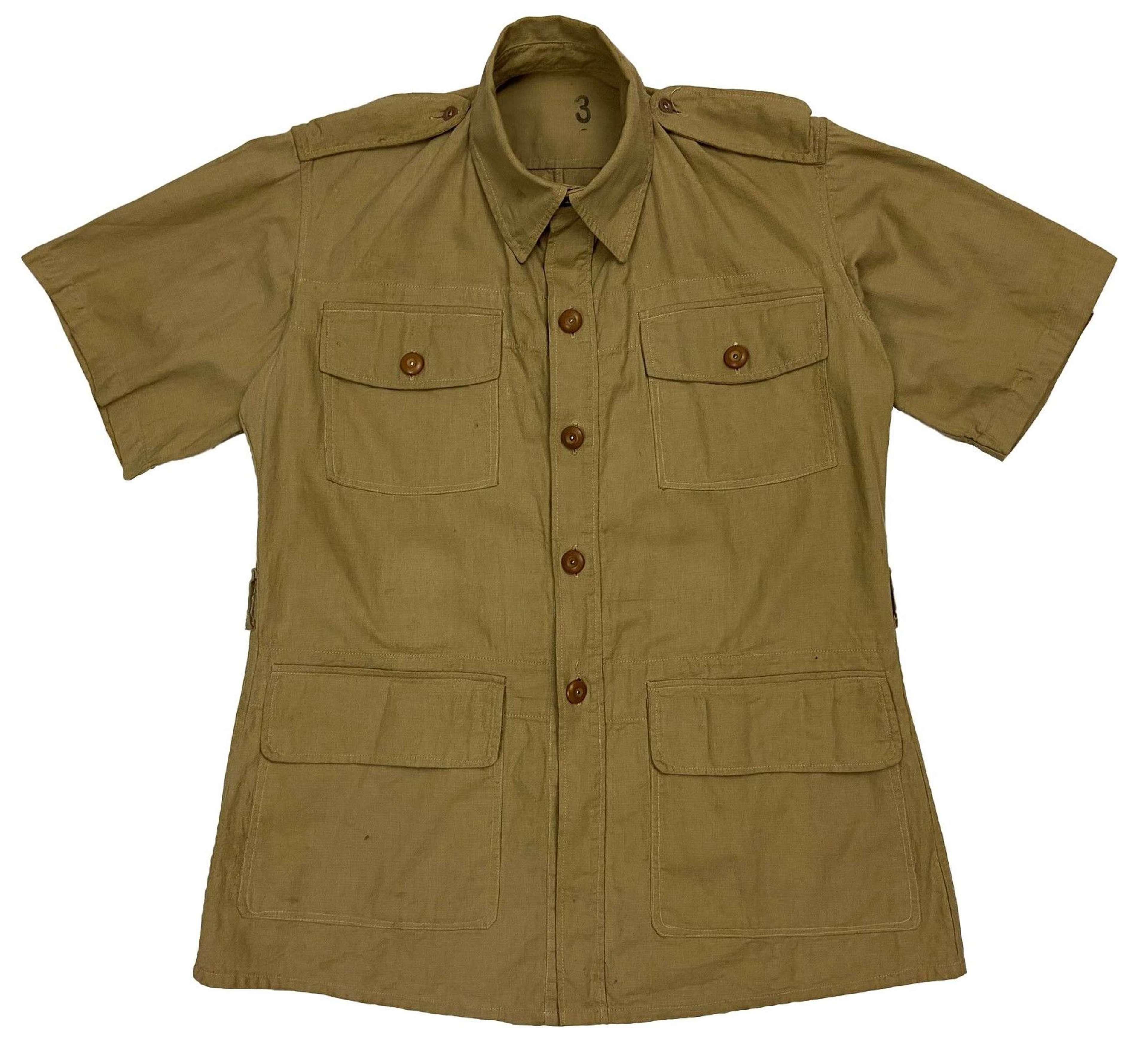 Original 1943 Dated RAF Aertex Bush Shirt