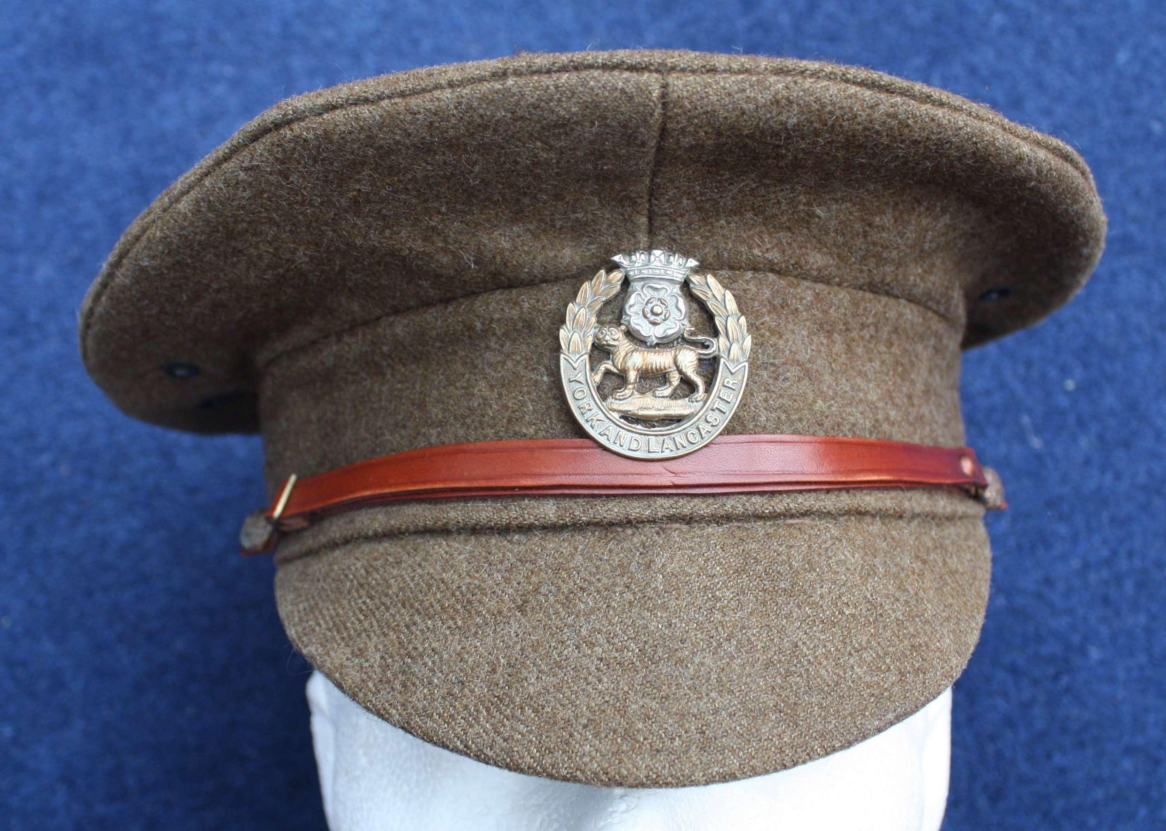 BRITISH WW1 1905 PATT OTHER RANKS KHAKI SERVICE DRESS CAP. SIZE 6 5/8