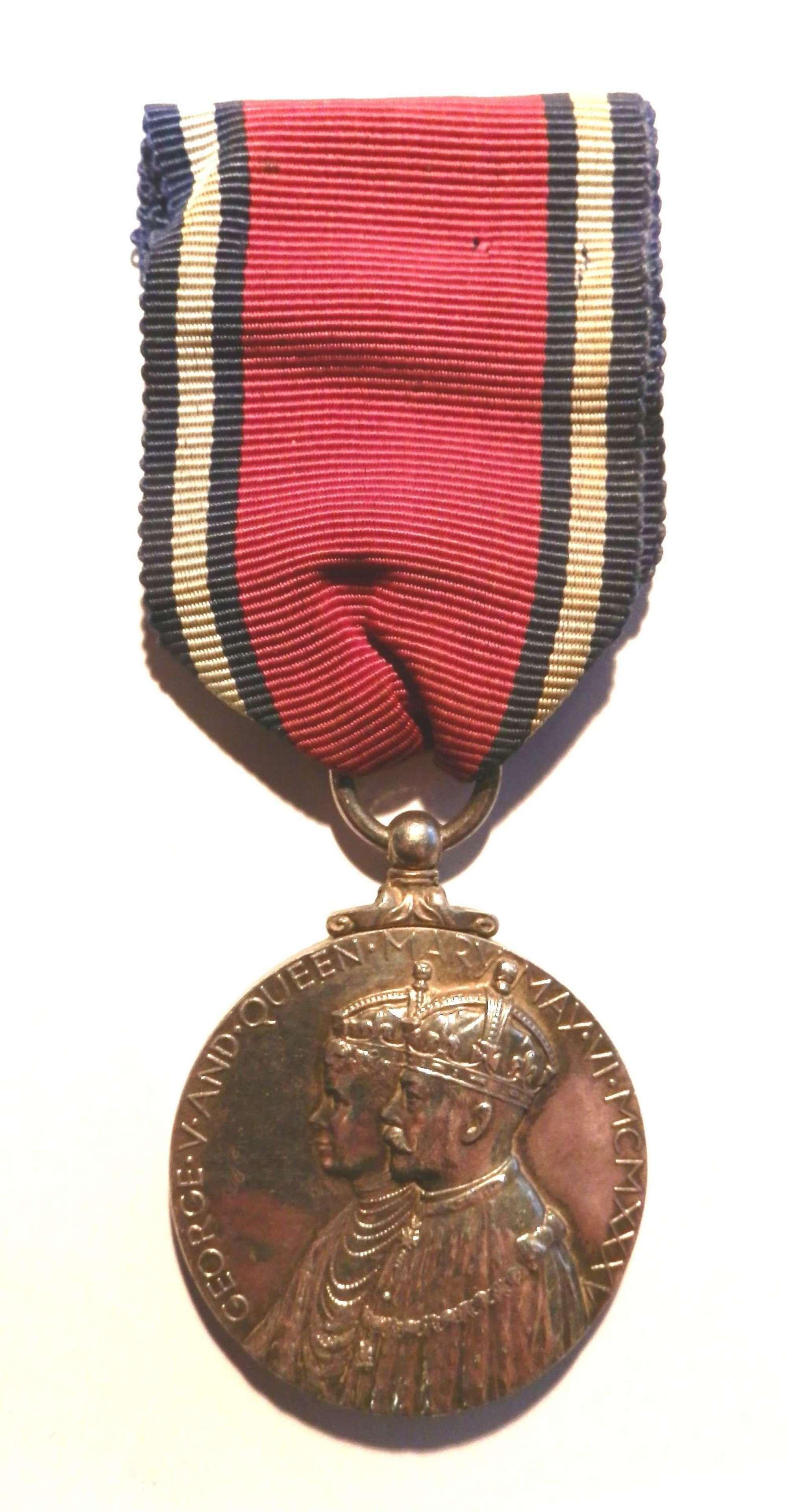 Jubilee Medal 1935. Inspector W.B. Whitworth.