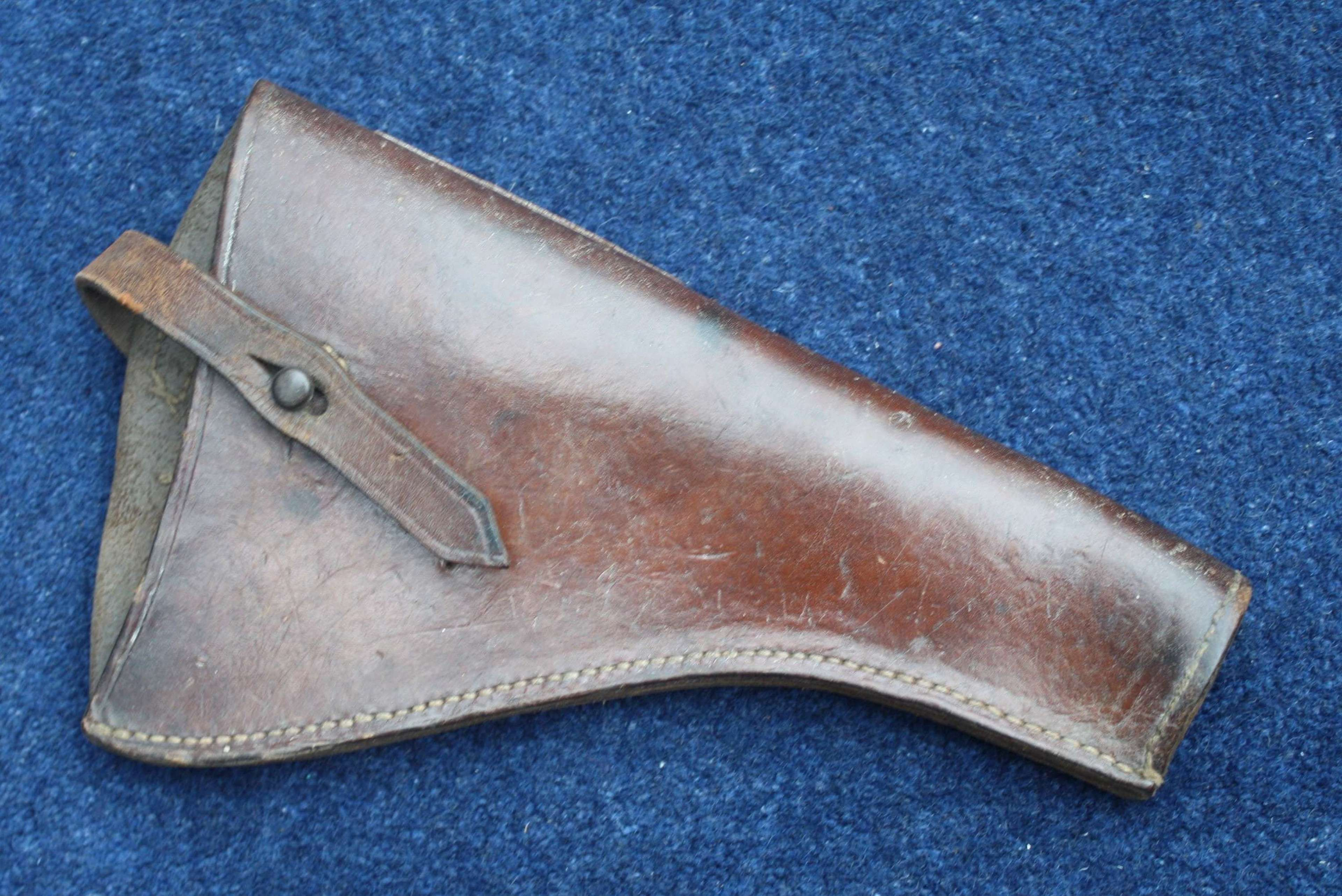 WW1 British Army 1908 Pattern Leather Holster by Stiby 1917