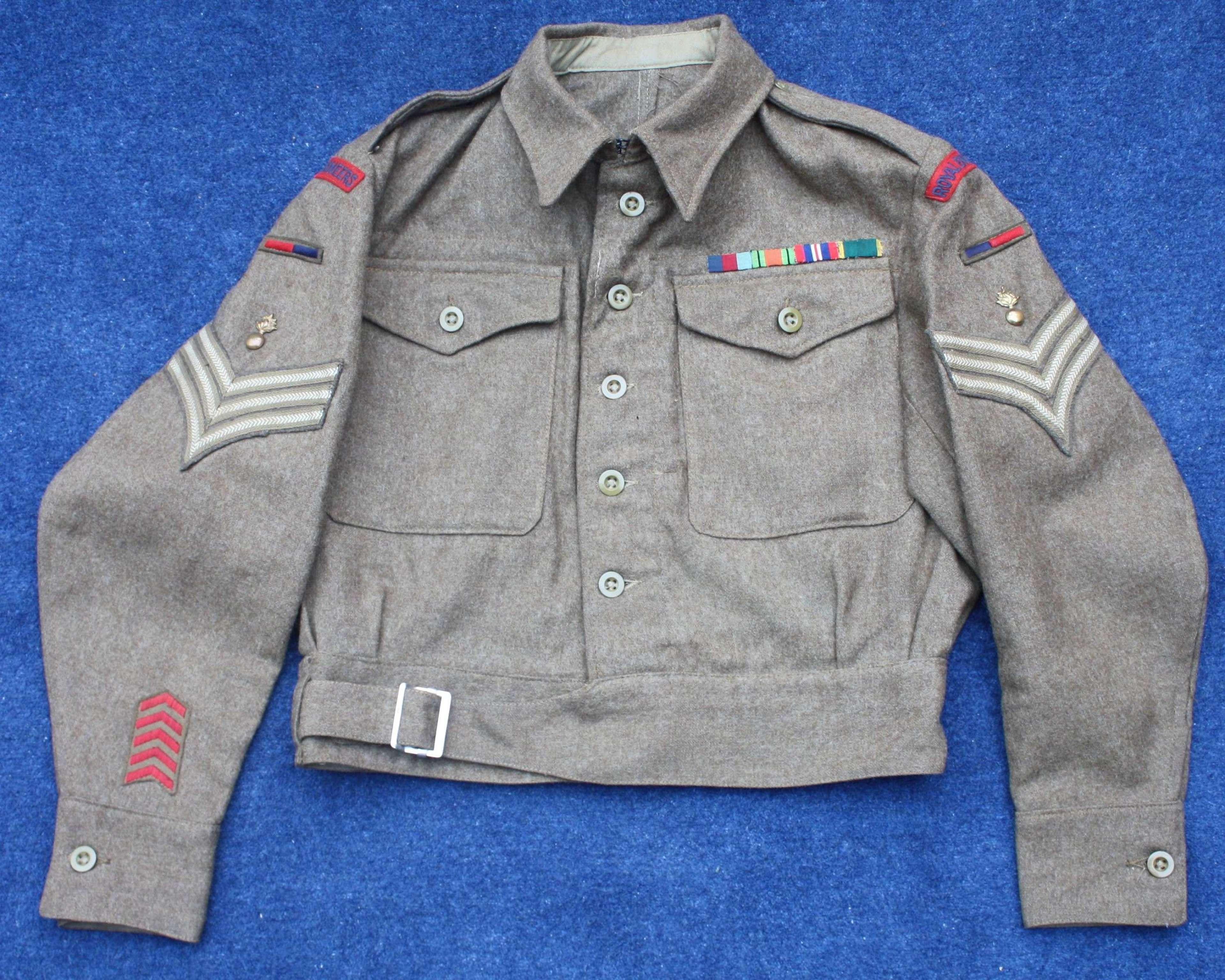WW2 Royal Engineers 1945 Dated Battledress Blouse.
