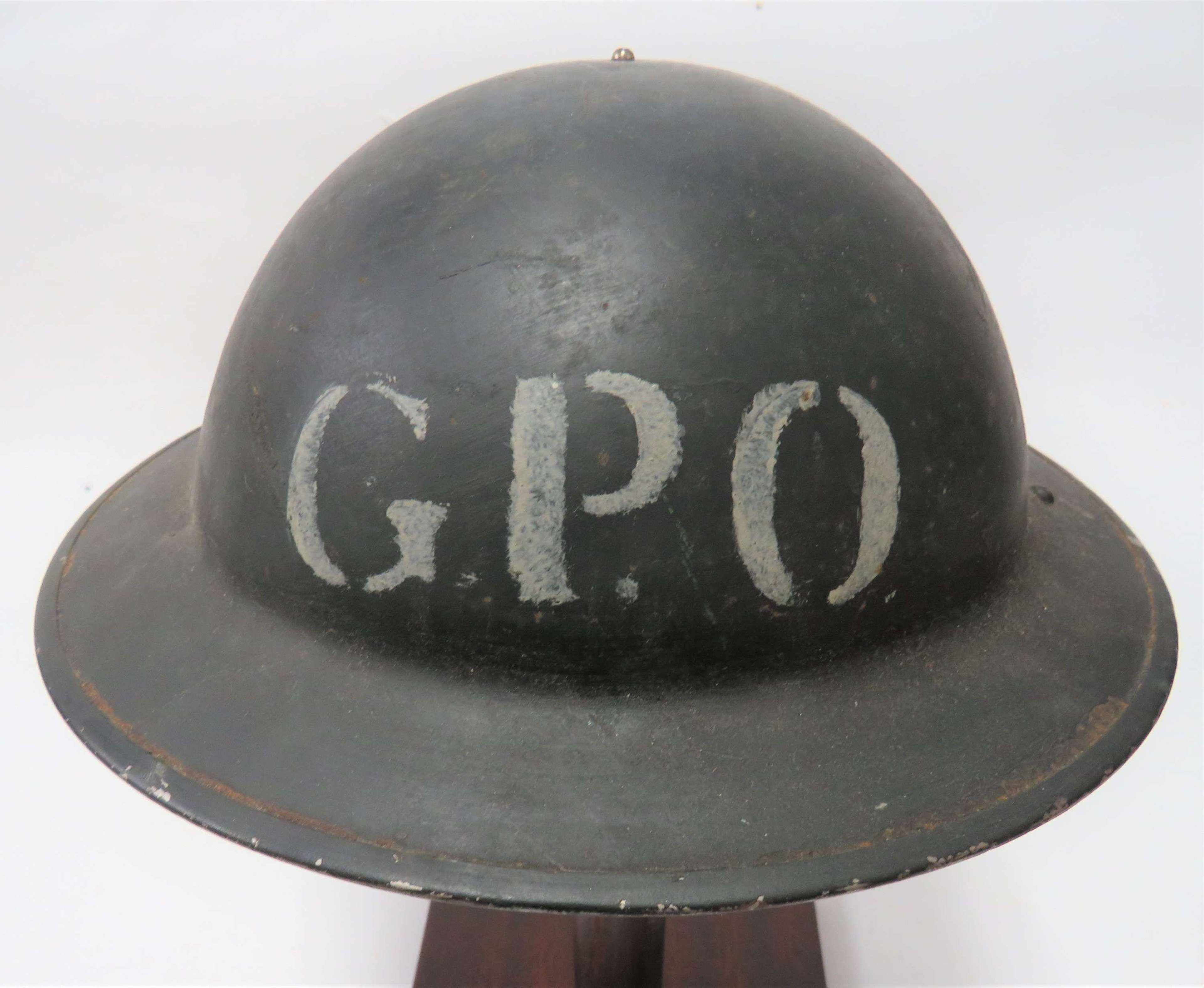 Scarce WW2 G.P.O 1940 Dated Steel Helmet