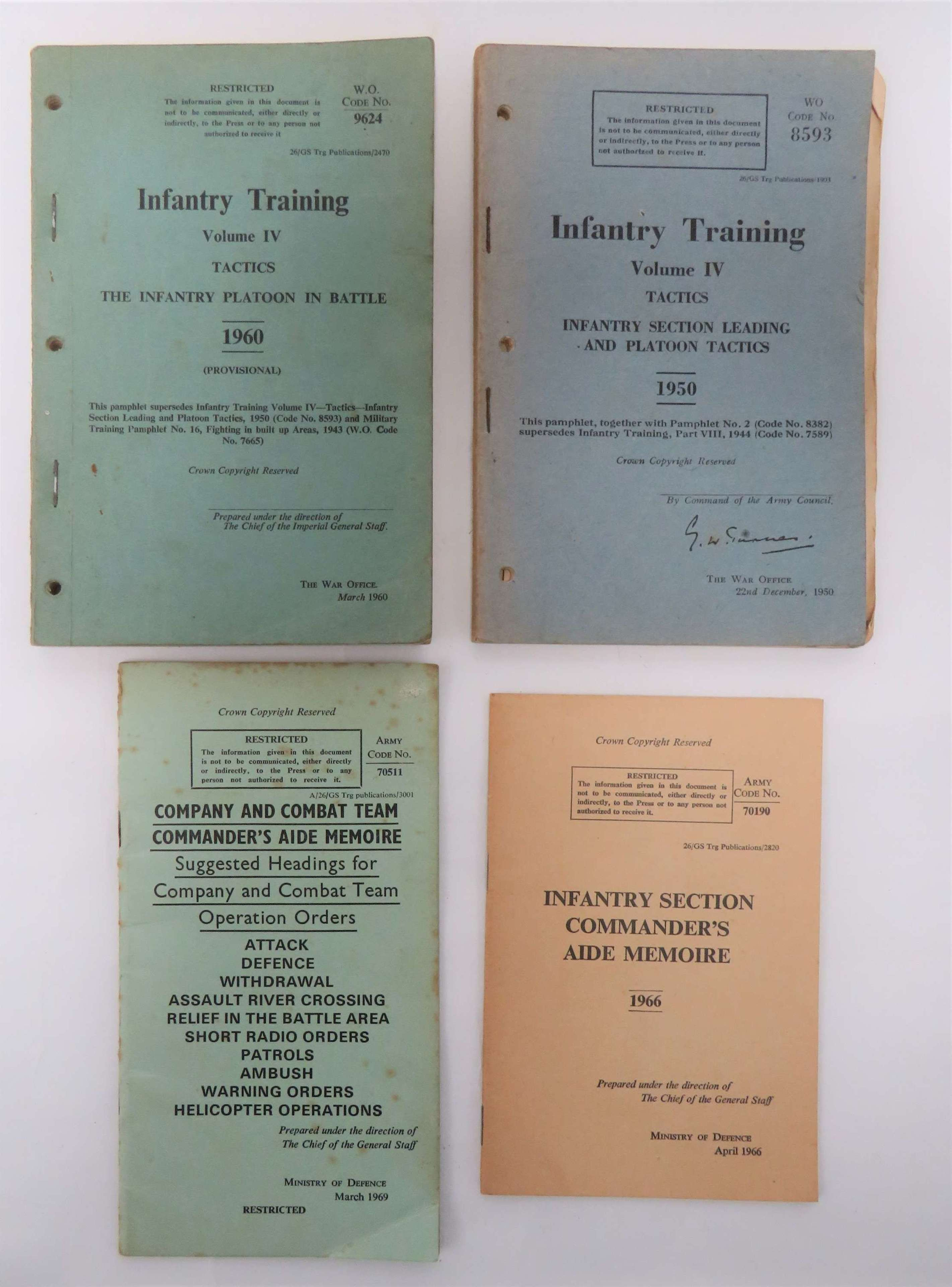 Four Post War Infantry Manuals