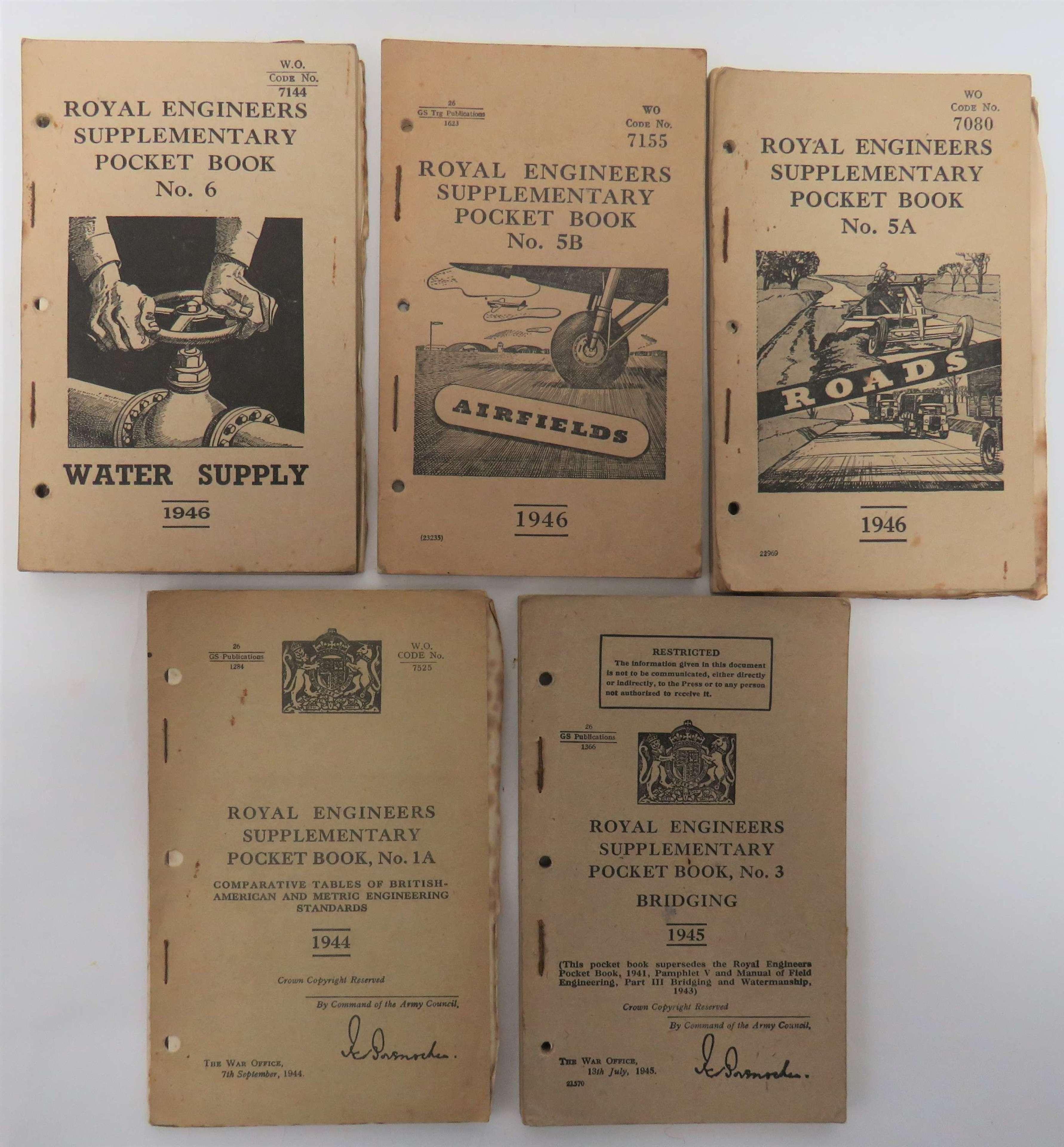 Five WW2 / Post War Royal Engineers Manuals