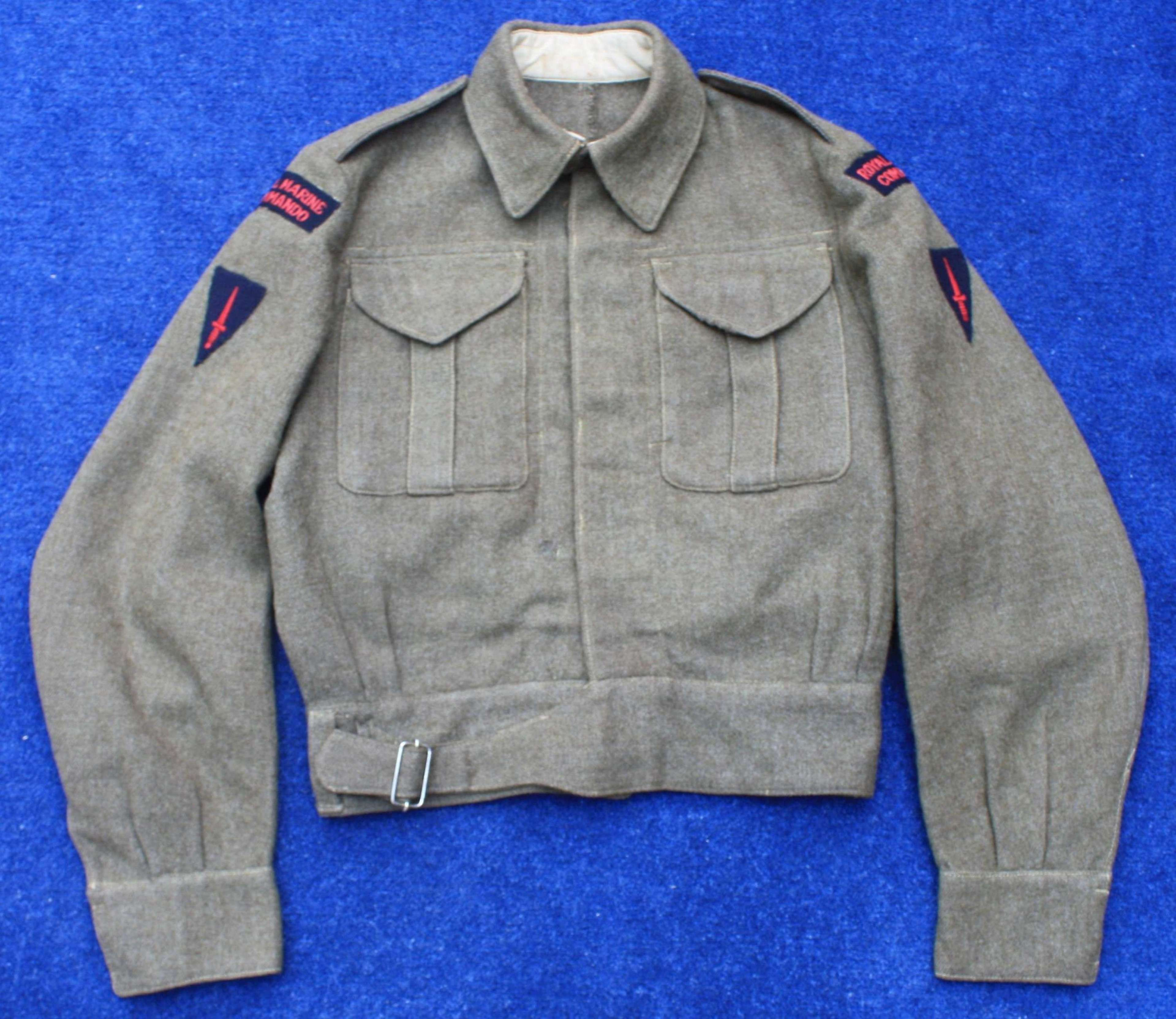 WW2 Royal Marine Commando Khaki Battledress Tunic/ Blouse.