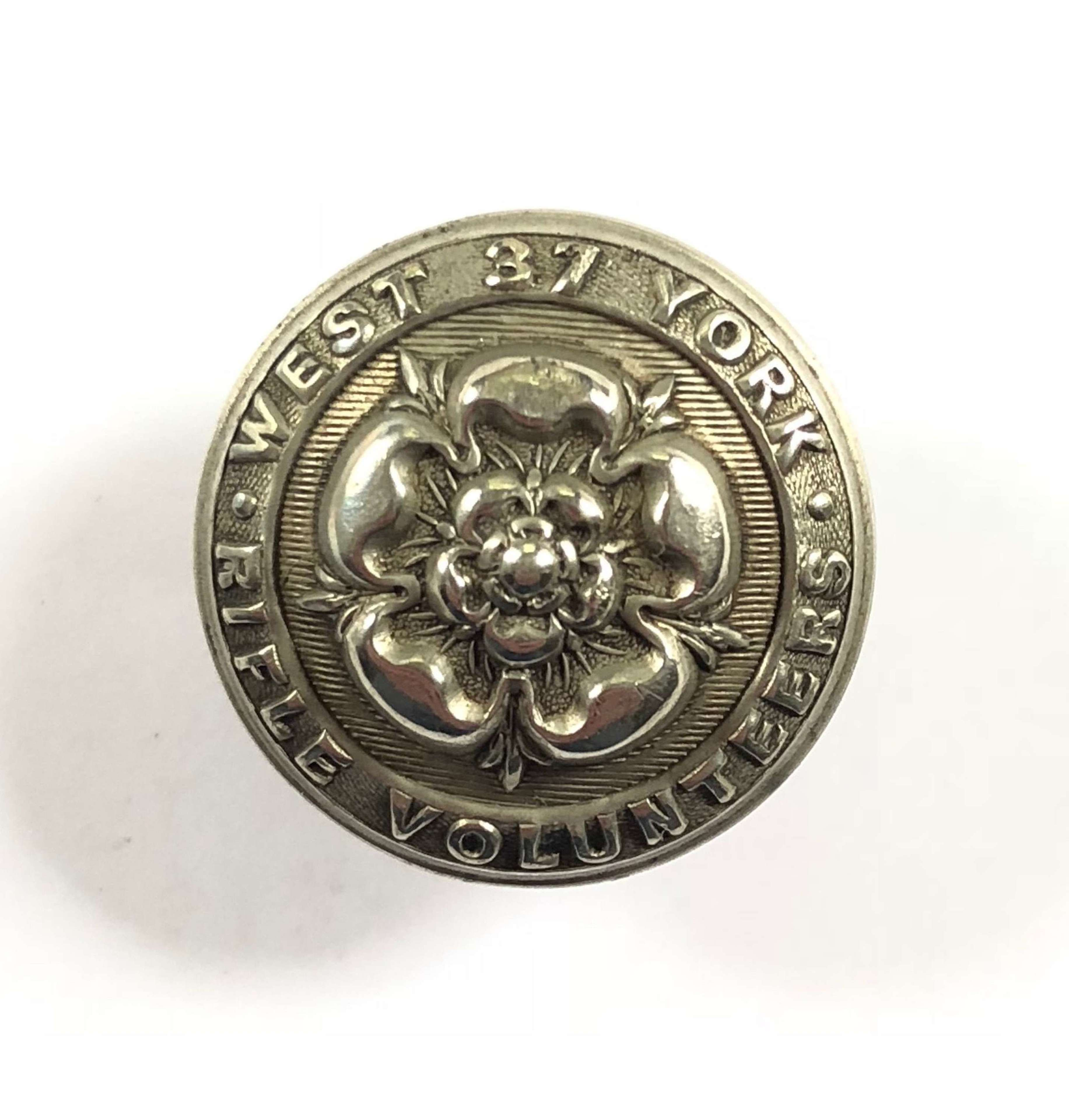 37th (Barnsley) Yorkshire, West Riding, Rifle Volunteer Corps Button