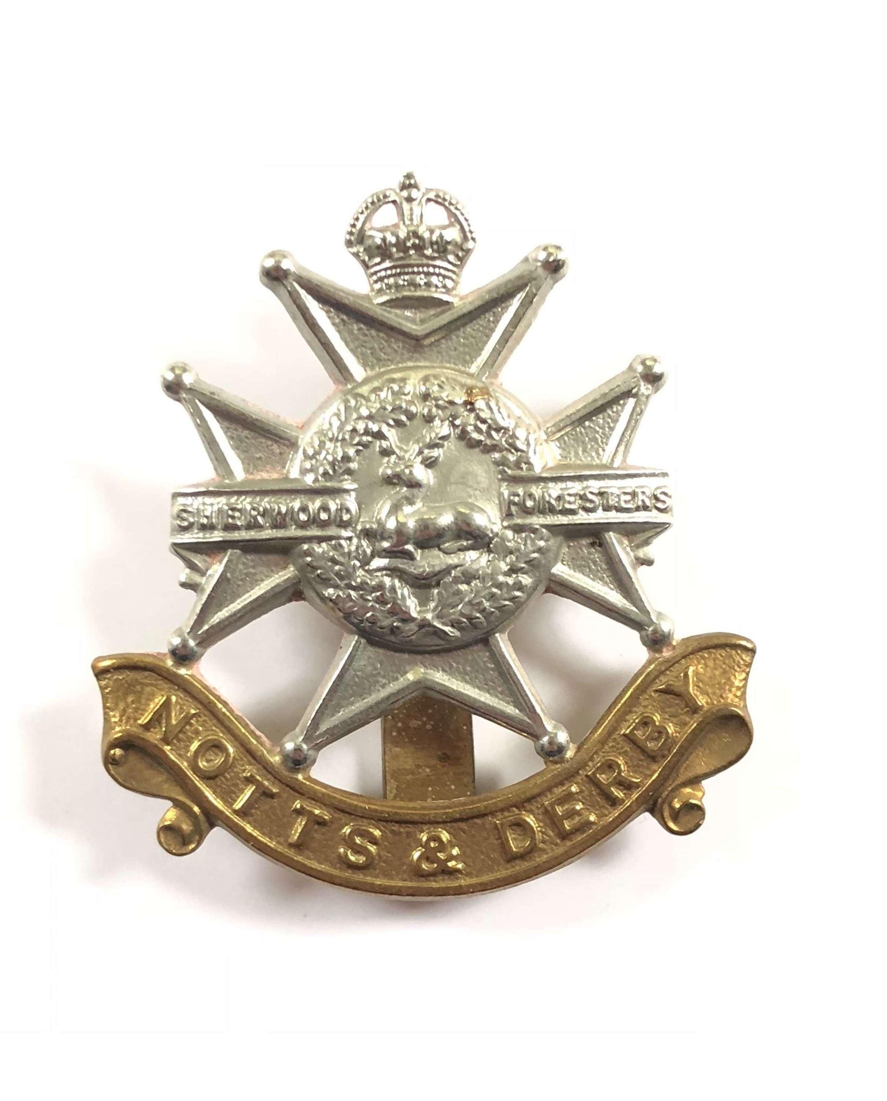 WW1 / WW2 Notts & Derby Cap badge.