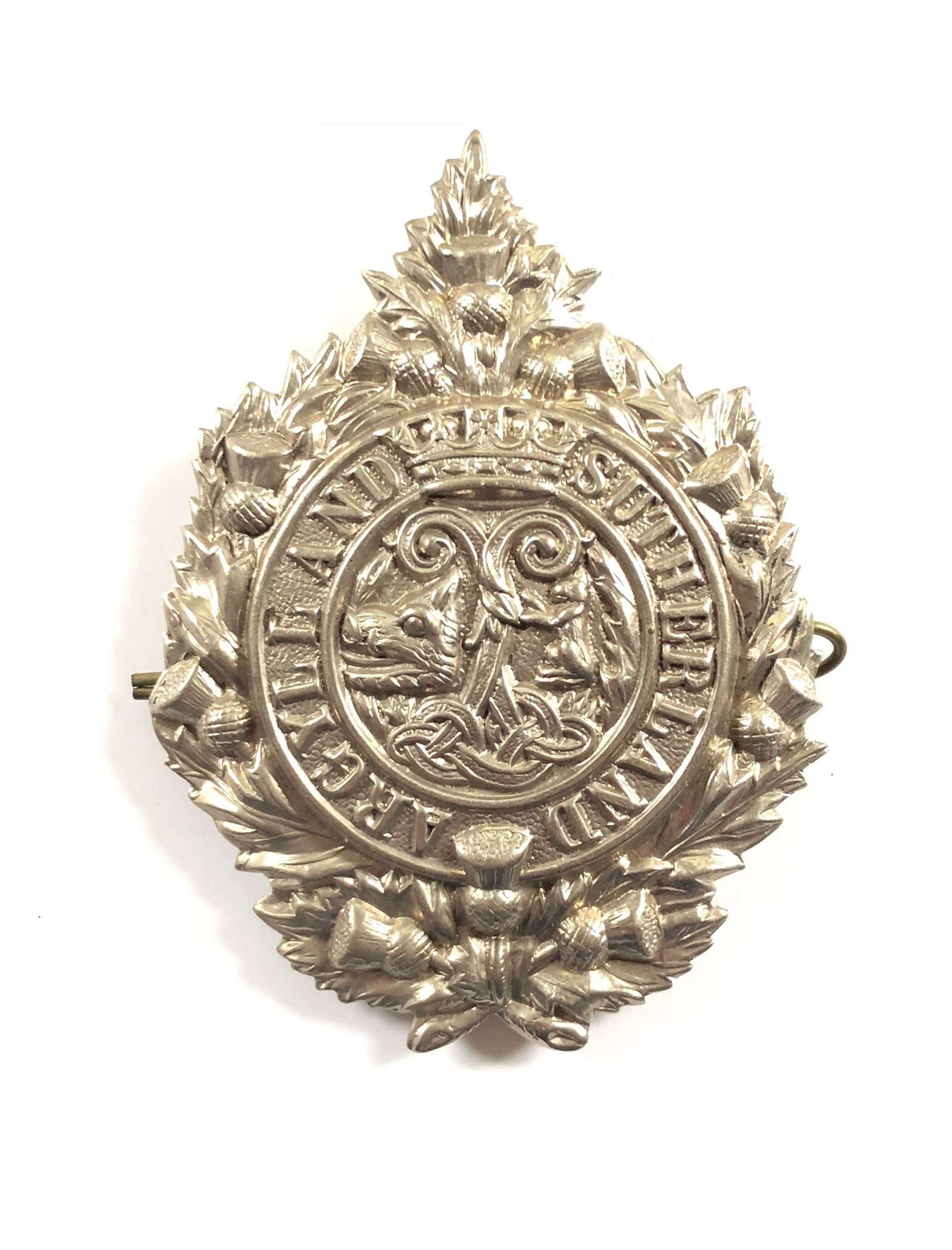 WW1 WW2 Argyll & Sutherland Highlanders Cap Badge.