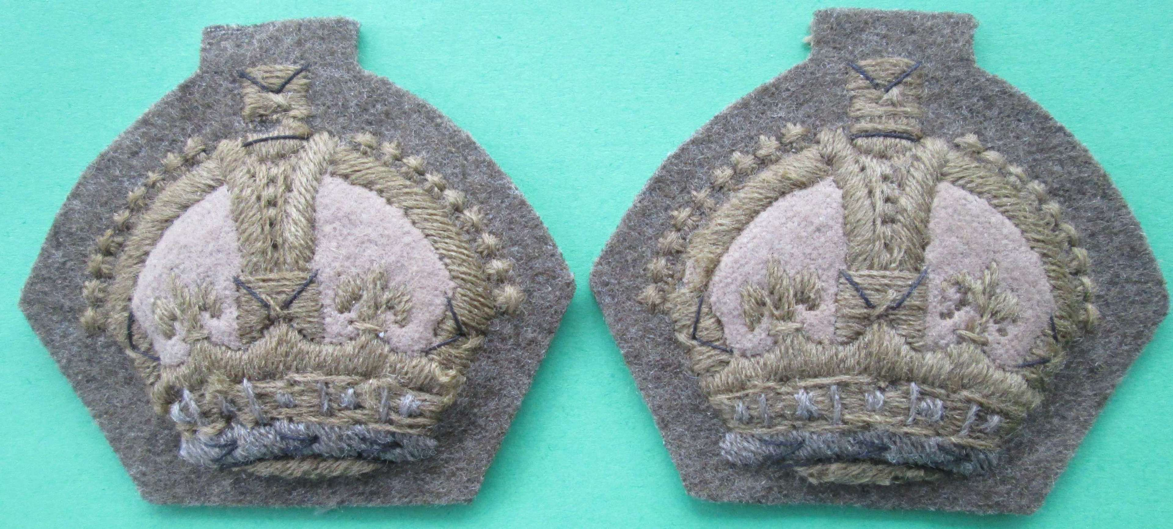 A GOOD PAIR OF SGTS CROWNS
