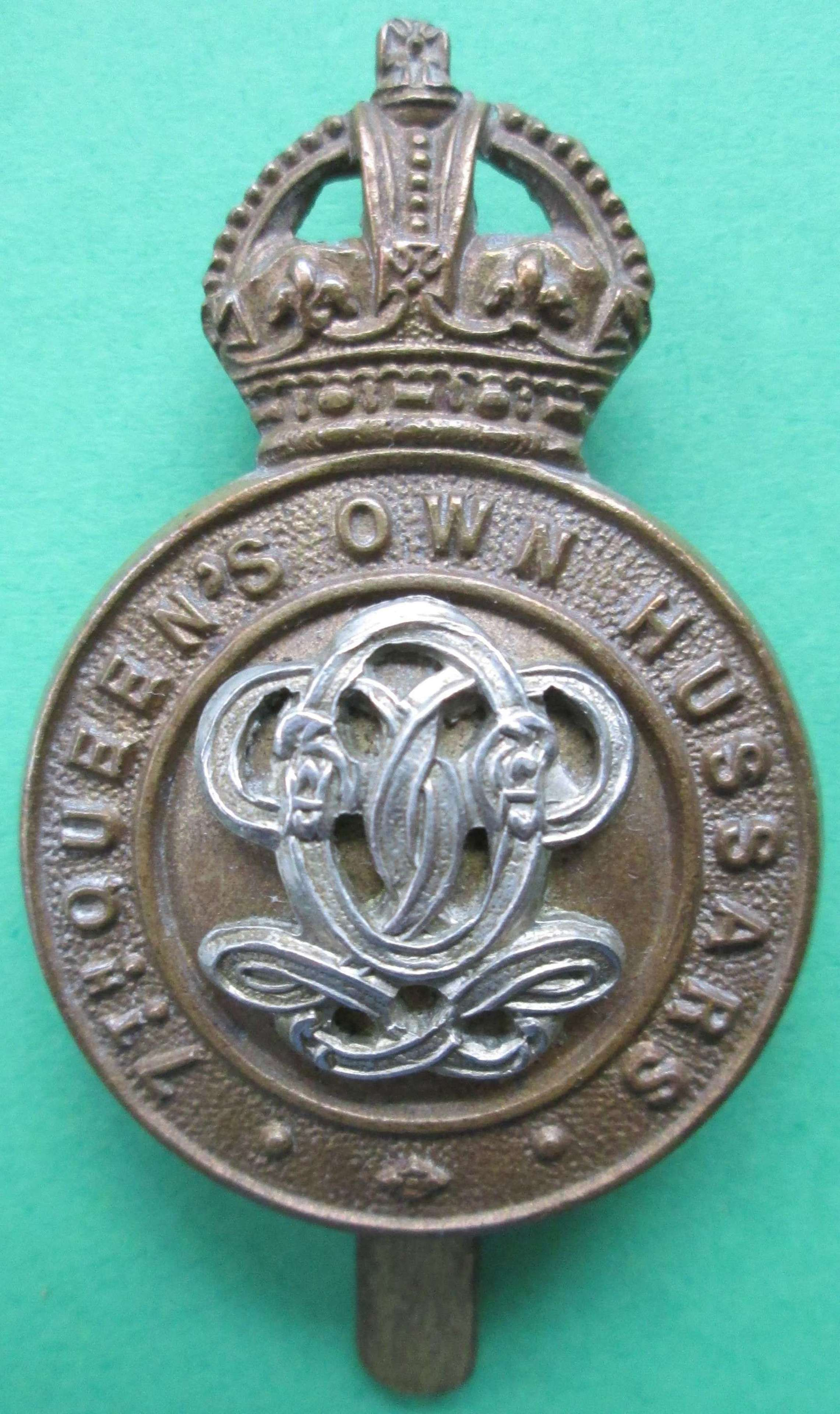 CAP BADGE FOR THE 7TH QUEEN'S OWN HUSSARS