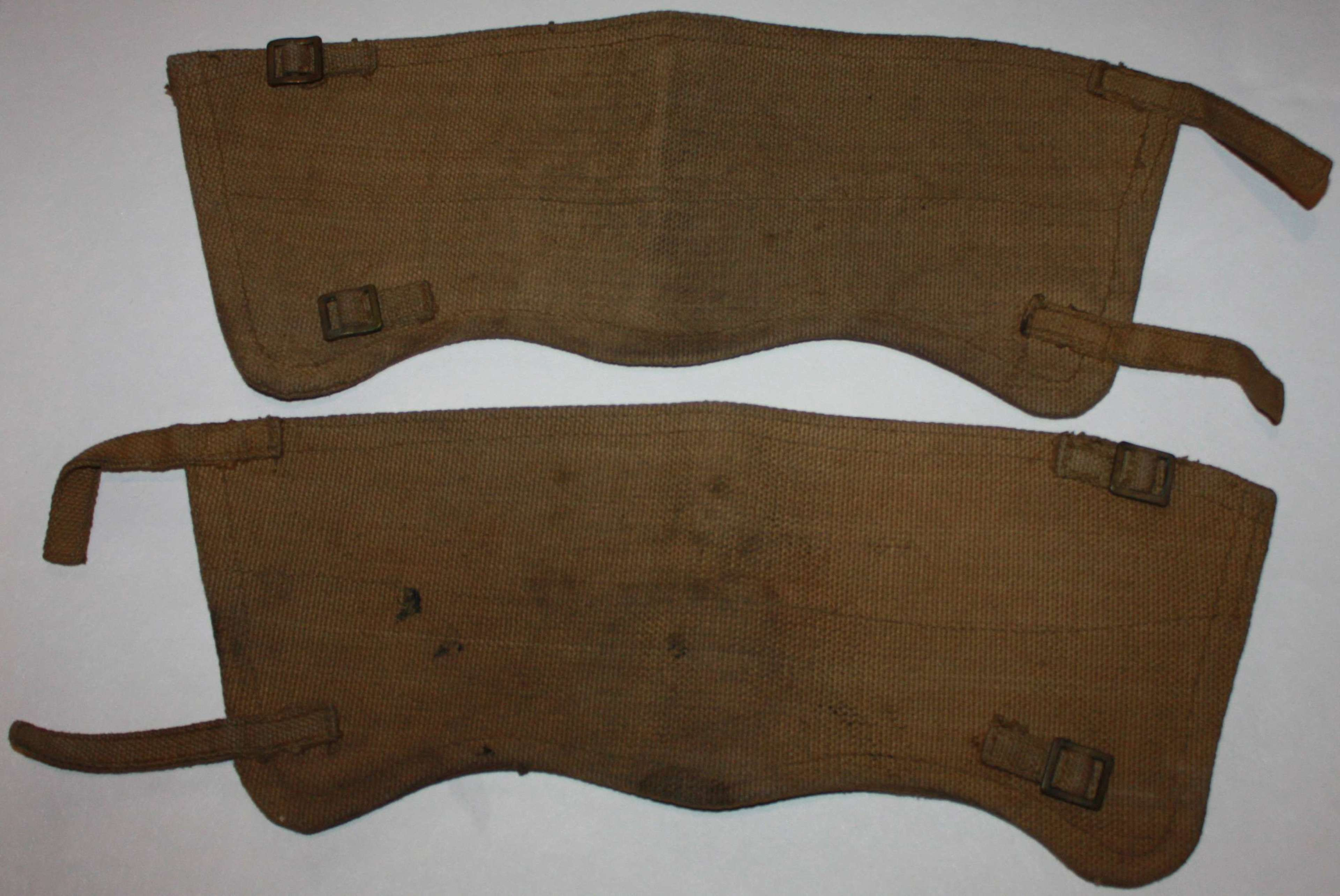 A PAIR OF 1940 USED WEBBING GATTERS