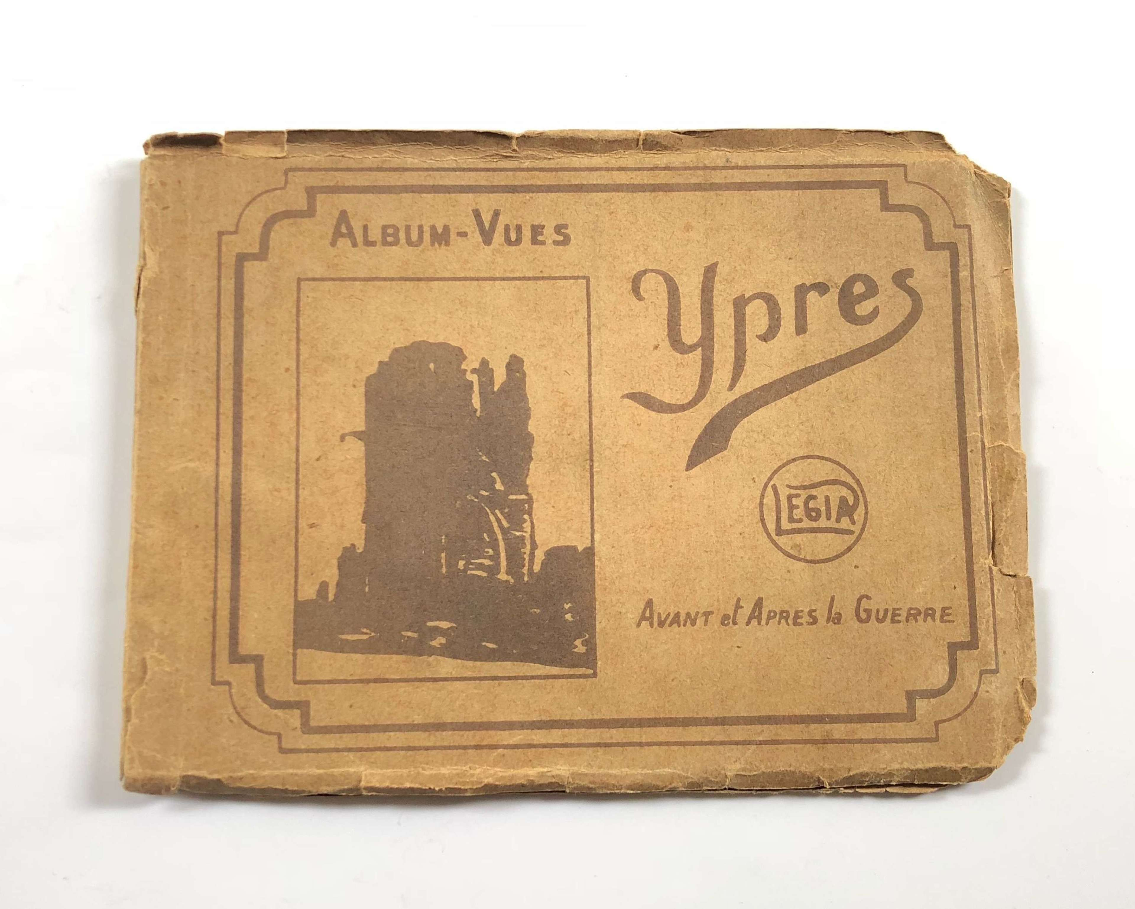 WW1 Souvenir Postcards of Ypres in Original Booklet.