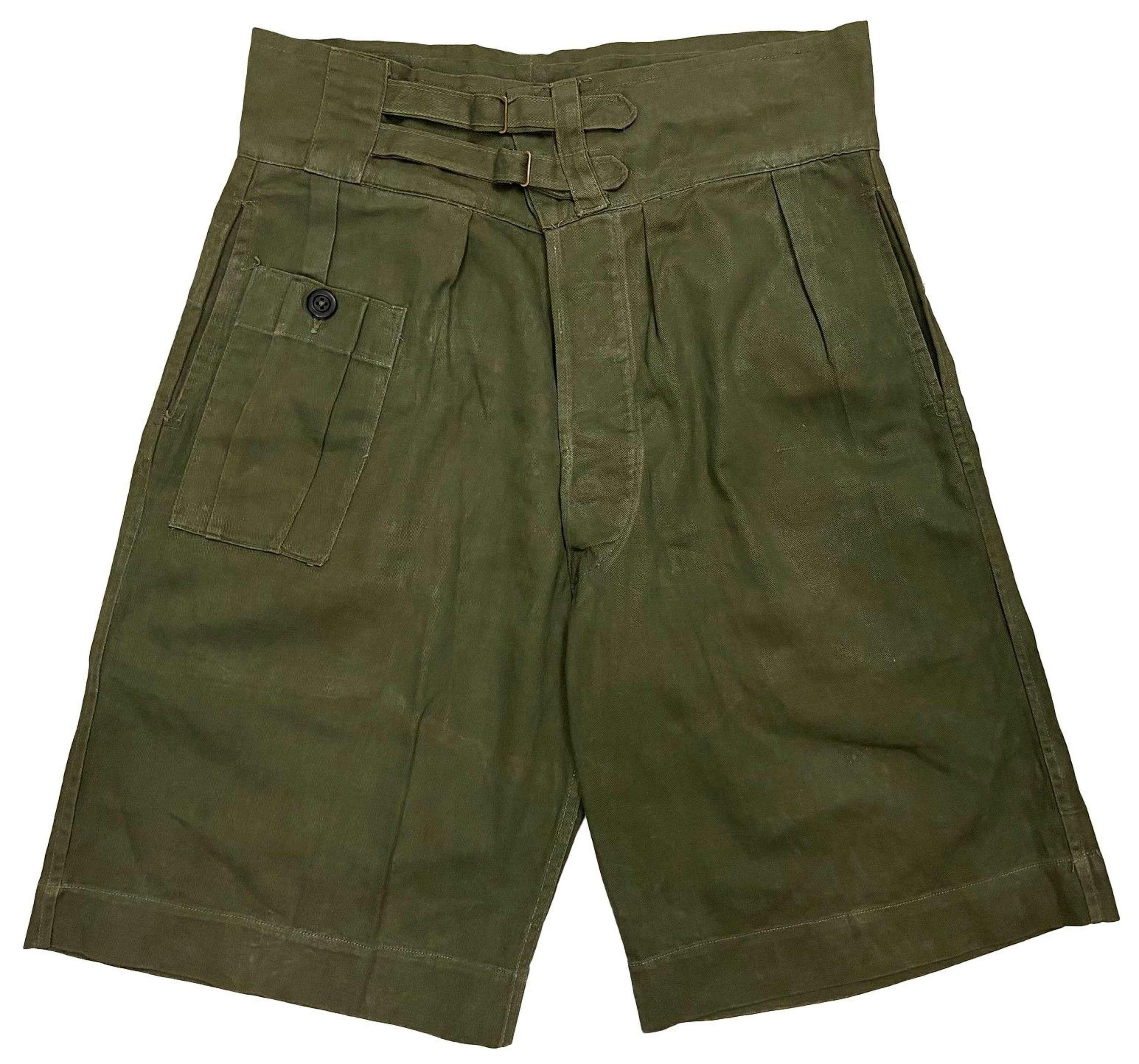 Original 1948 Dated British 'Shorts Drill Green'