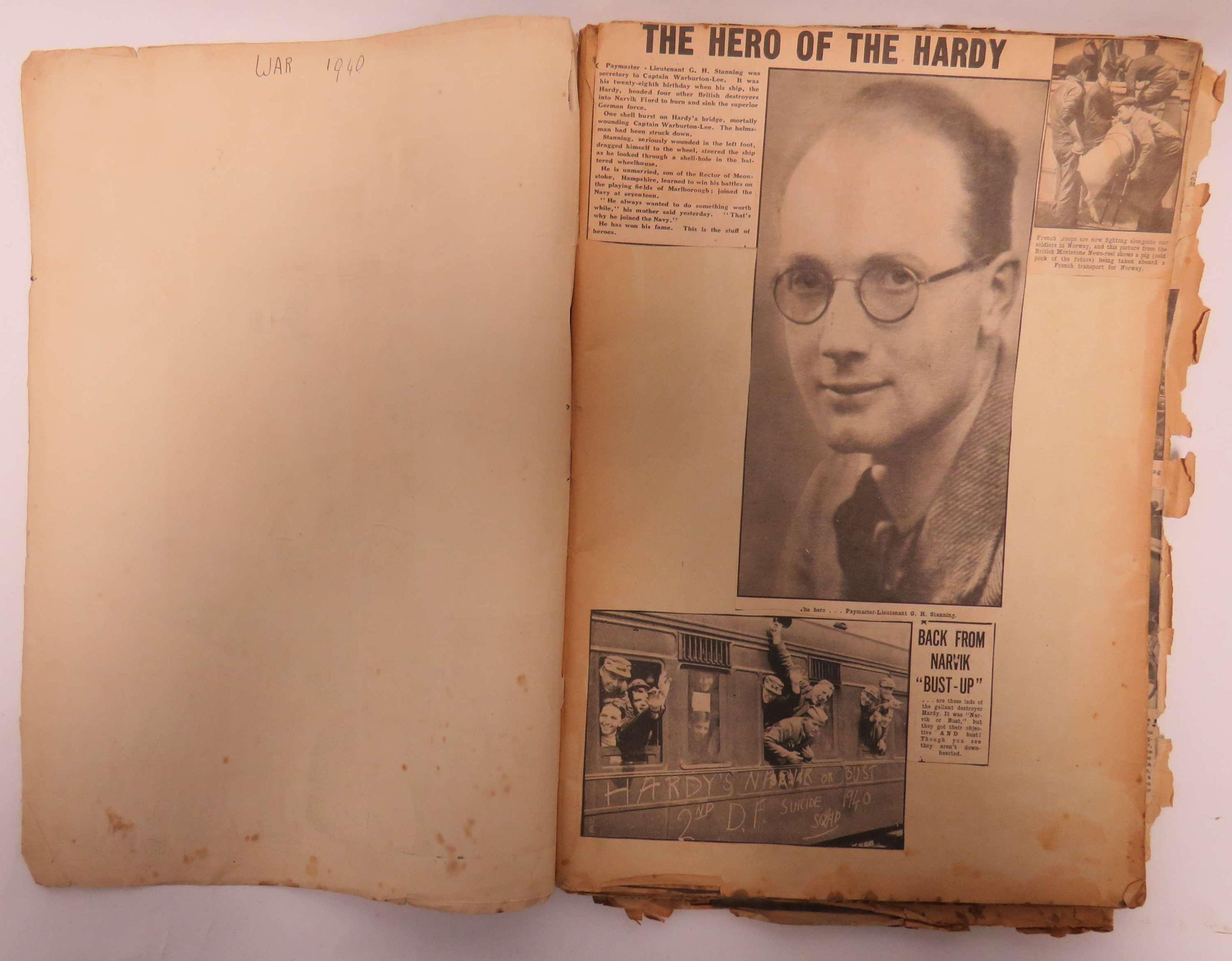 Early WW2 Newspaper Scrap Book