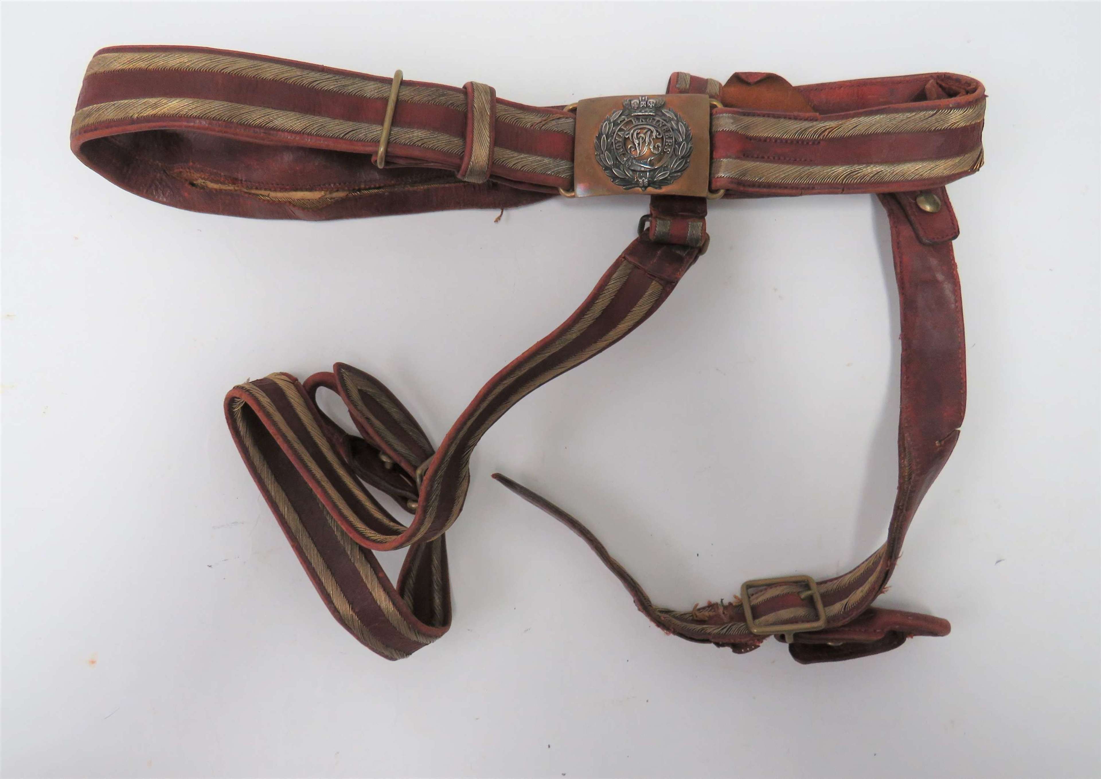 Victorian Royal Engineers Dress Sword Belt